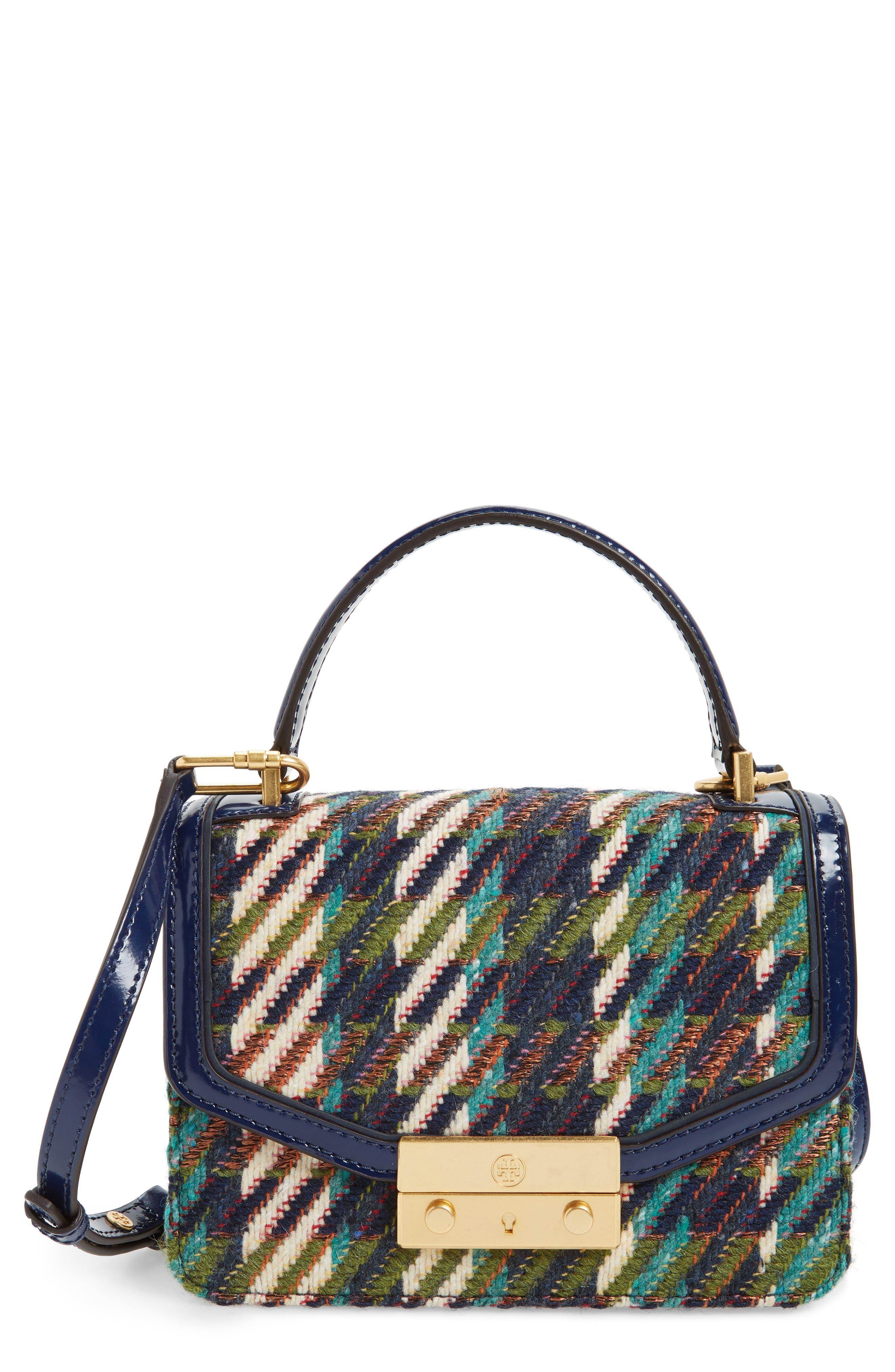 Tory Burch Juliette Tweed Top Handle Crossbody Bag
