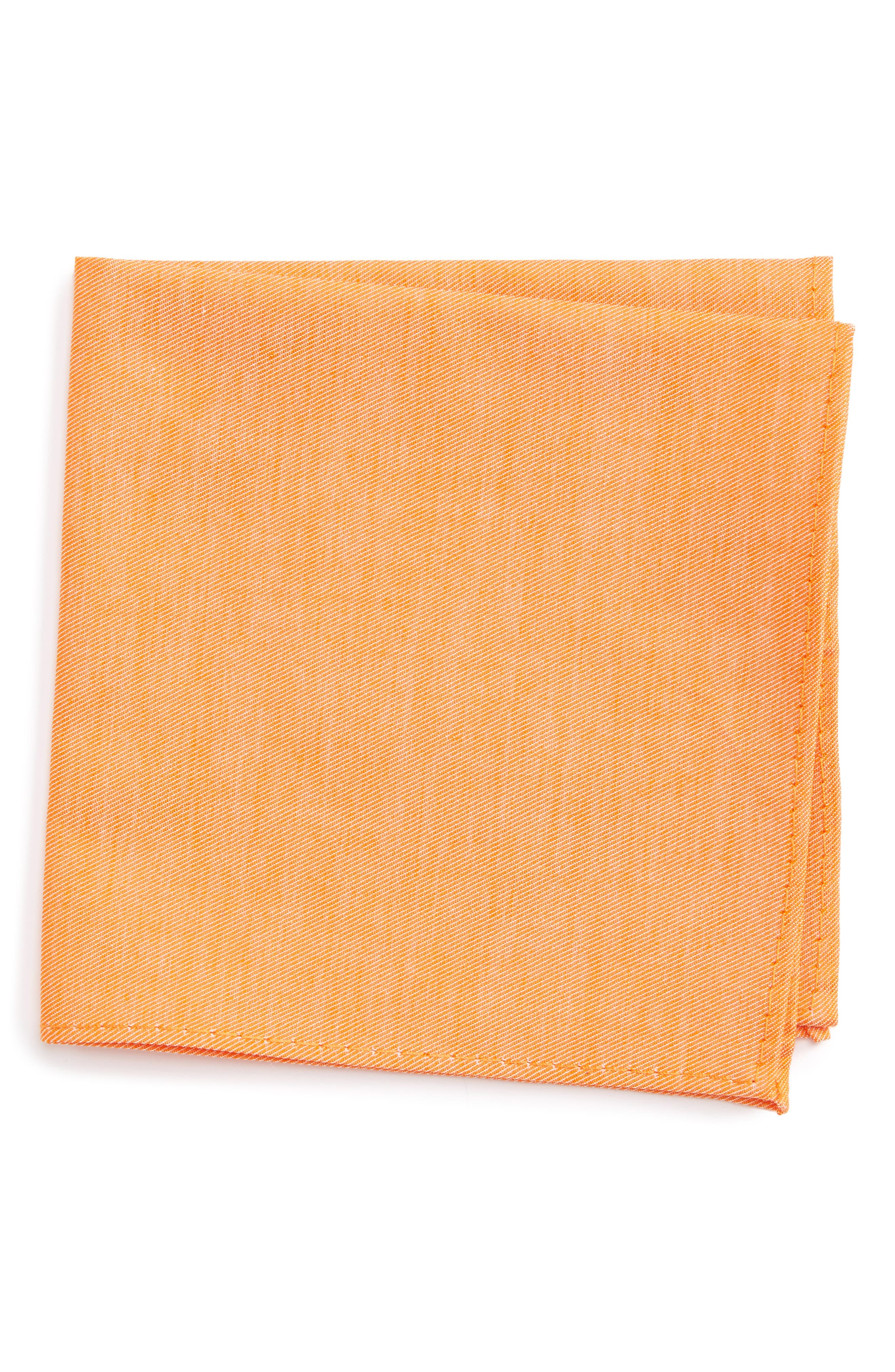 Nordstrom Bright Solid Cotton Pocket Square (Big Boys)