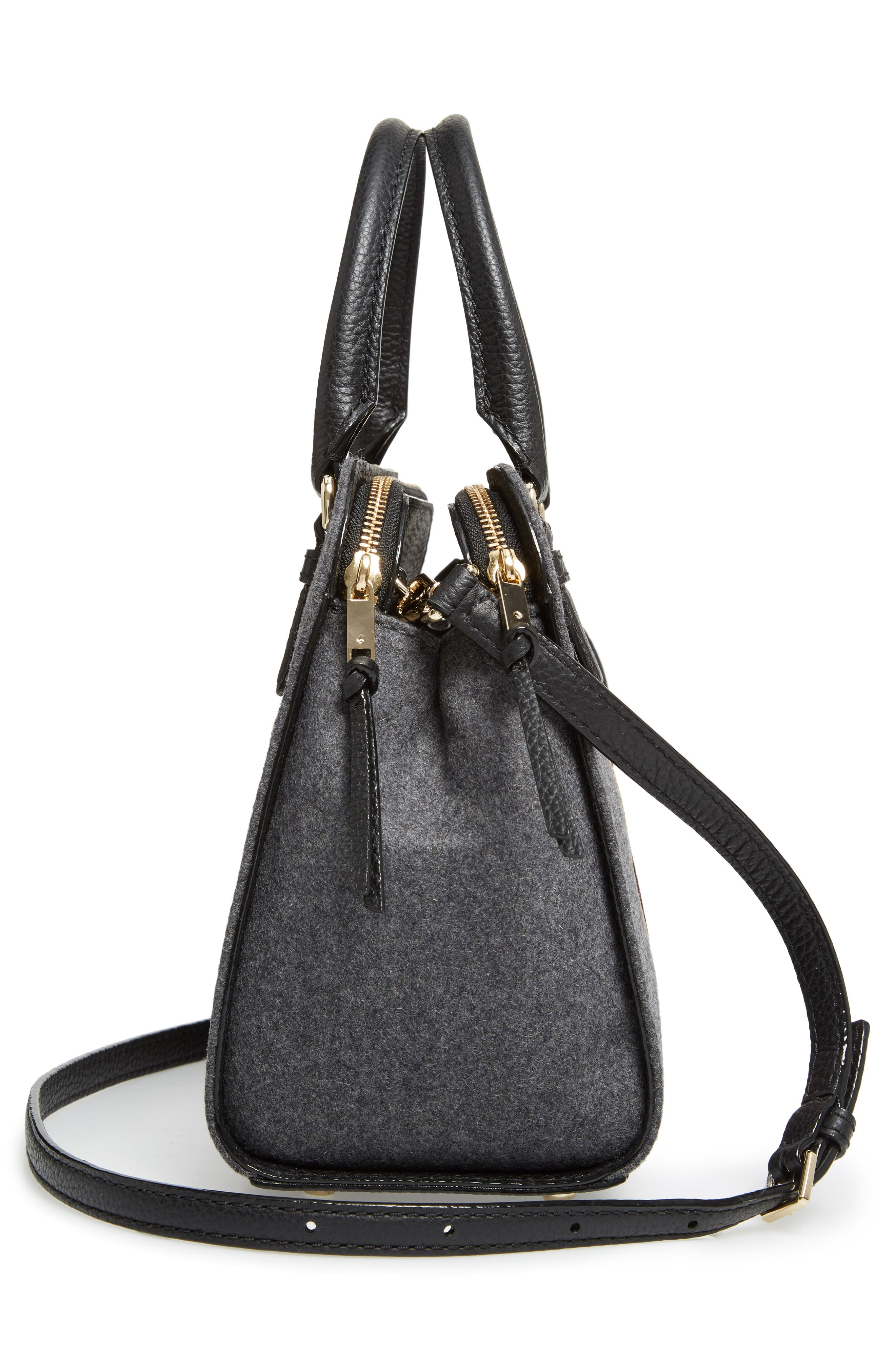 jackson street - small kiernan satchel,                             Alternate thumbnail 3, color,                             Charcoal