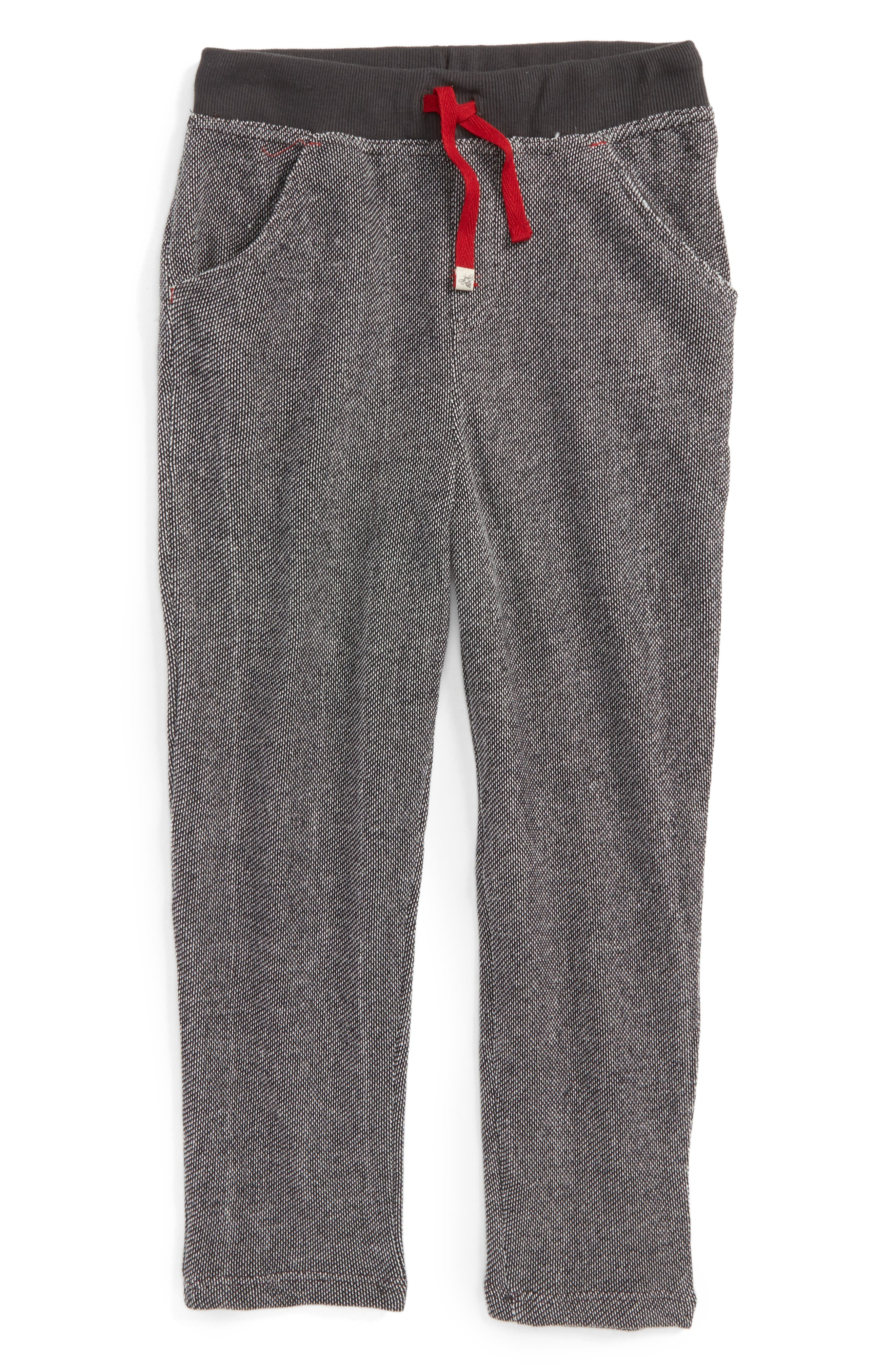 Alternate Image 1 Selected - Burt's Bees Baby Piqué Organic Cotton Pants (Toddler Boys & Little Boys)