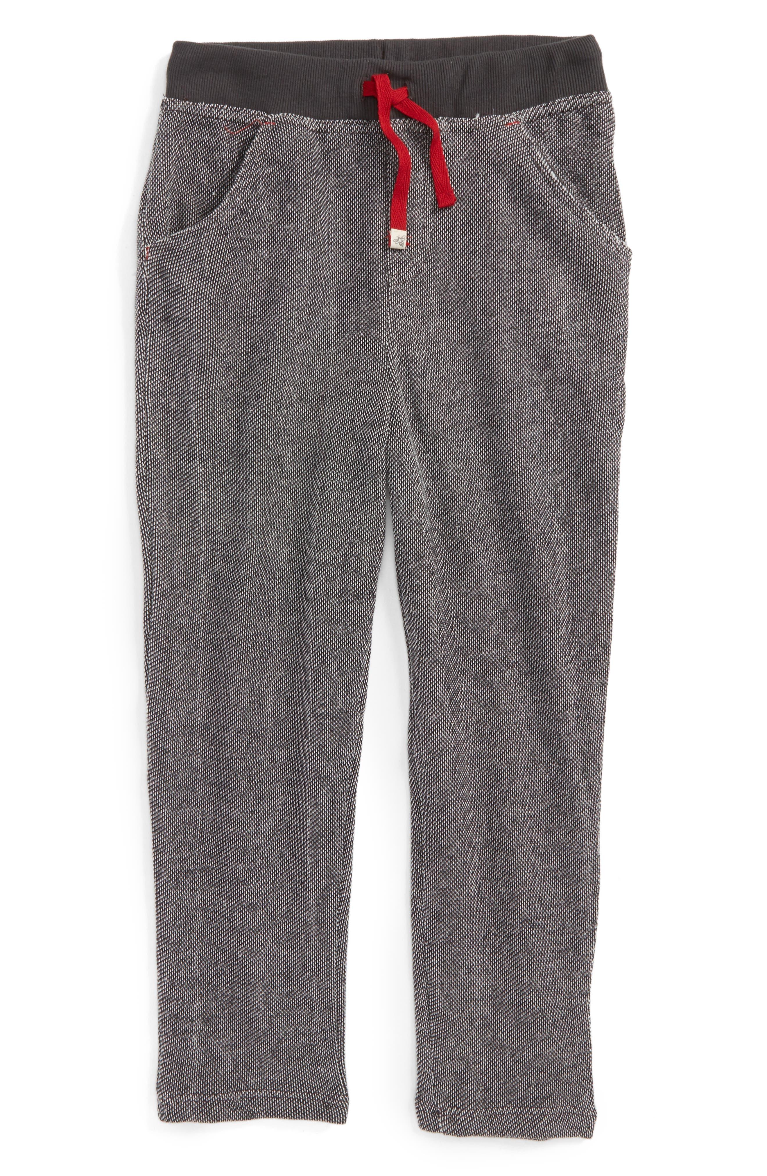 Piqué Organic Cotton Pants,                         Main,                         color, Onyx