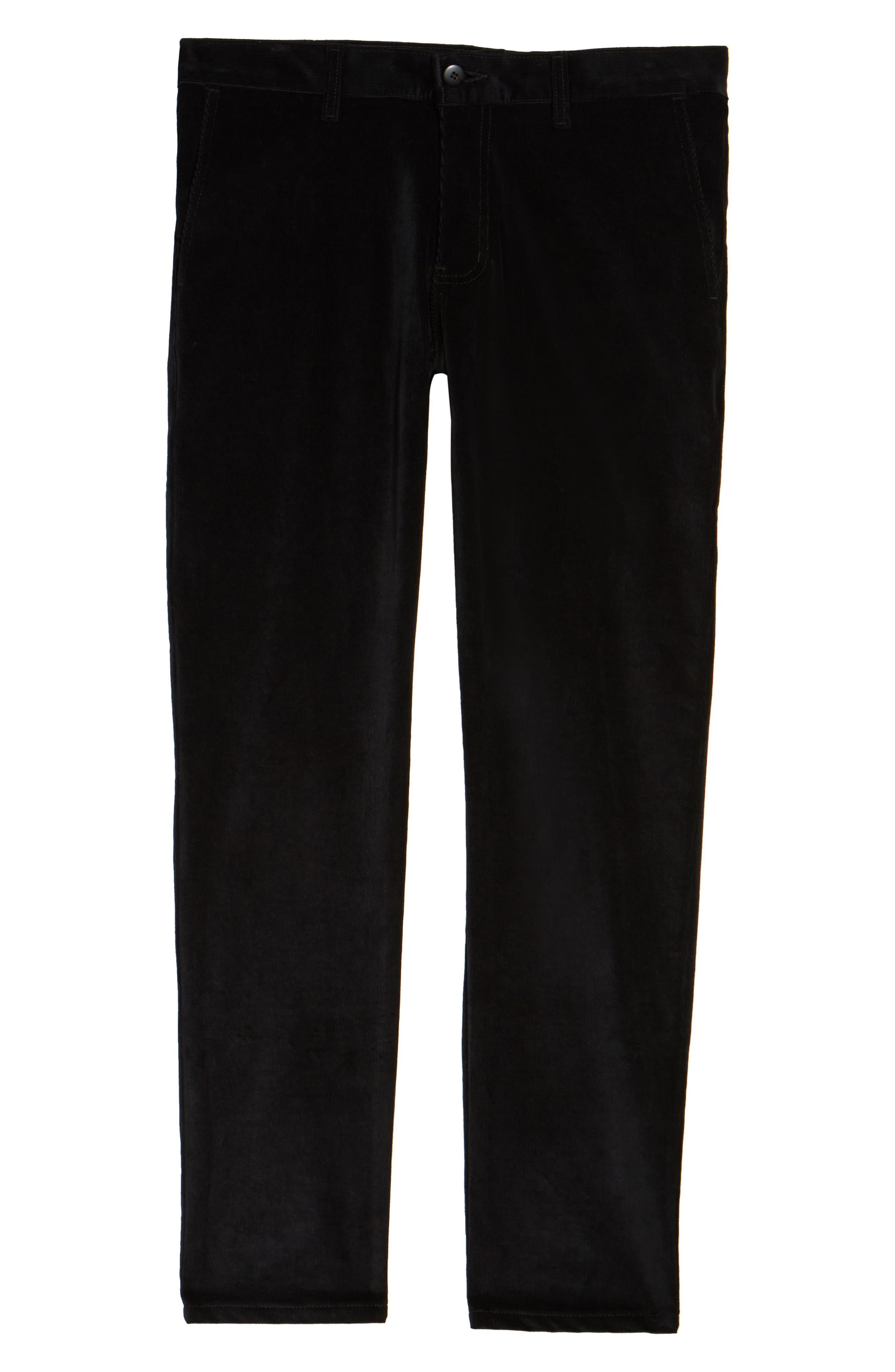 Naked & Famous Slim Chino Slim Fit Corduroy Pants,                             Alternate thumbnail 6, color,                             Black