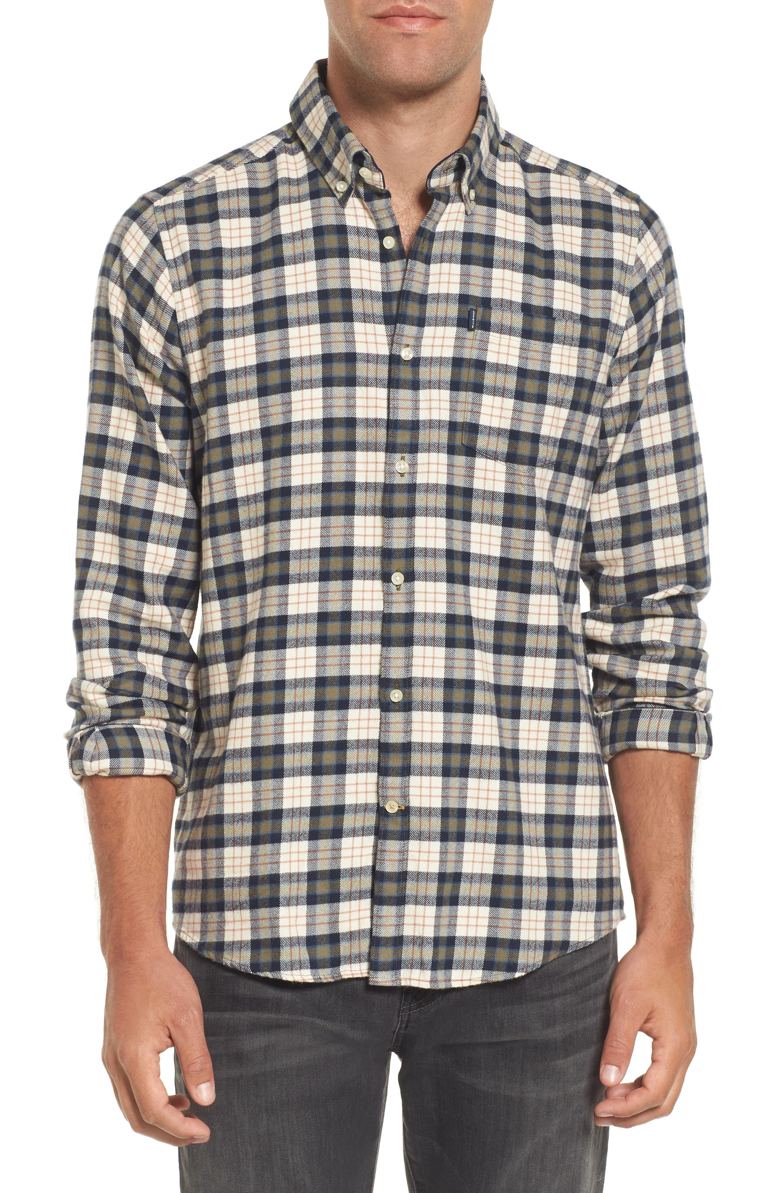 Alternate Image 1 Selected - Barbour Blake Plaid Sport Shirt