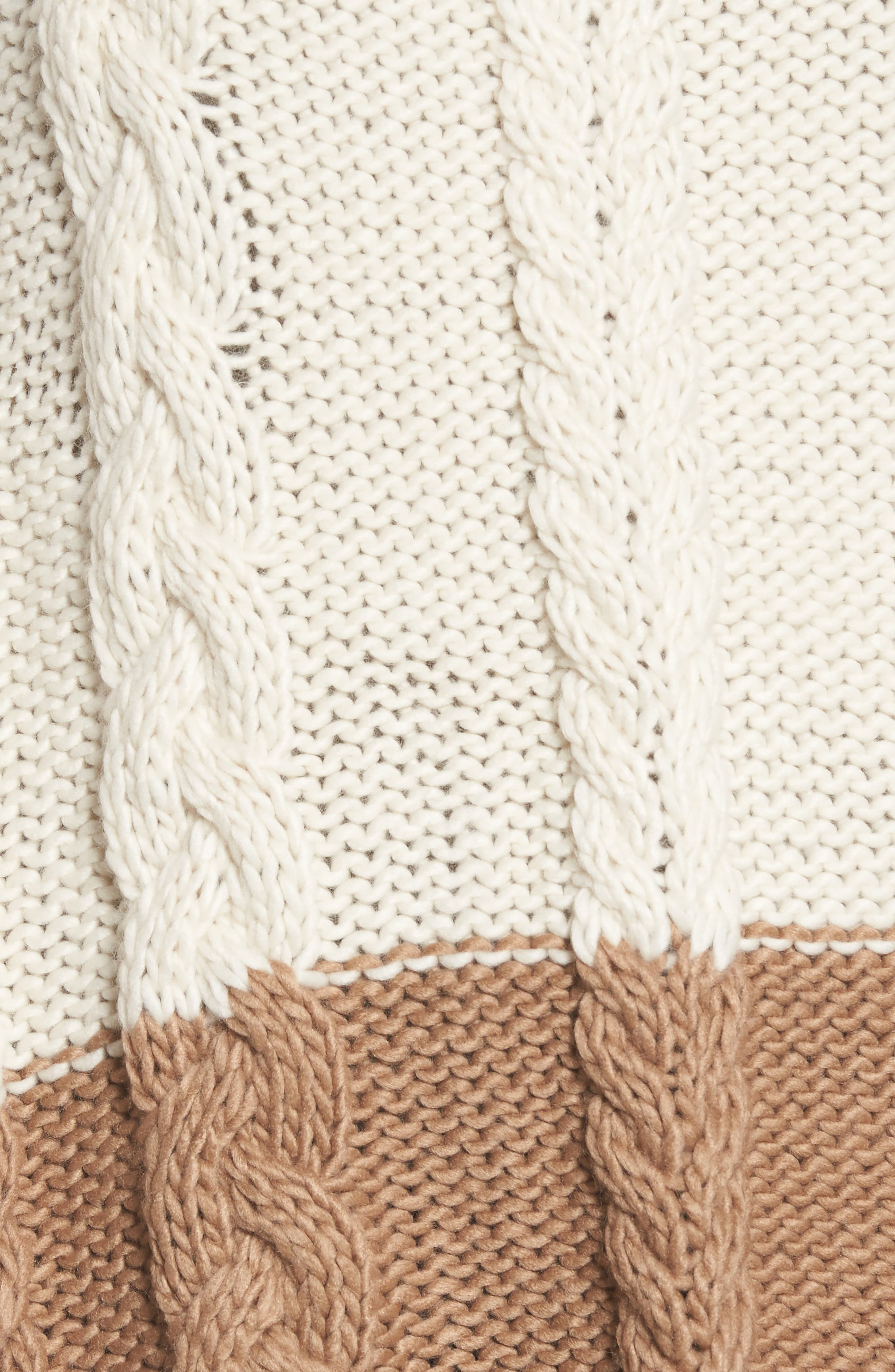 Alternate Image 5  - BCBGMAXAZRIA Cable Knit Poncho