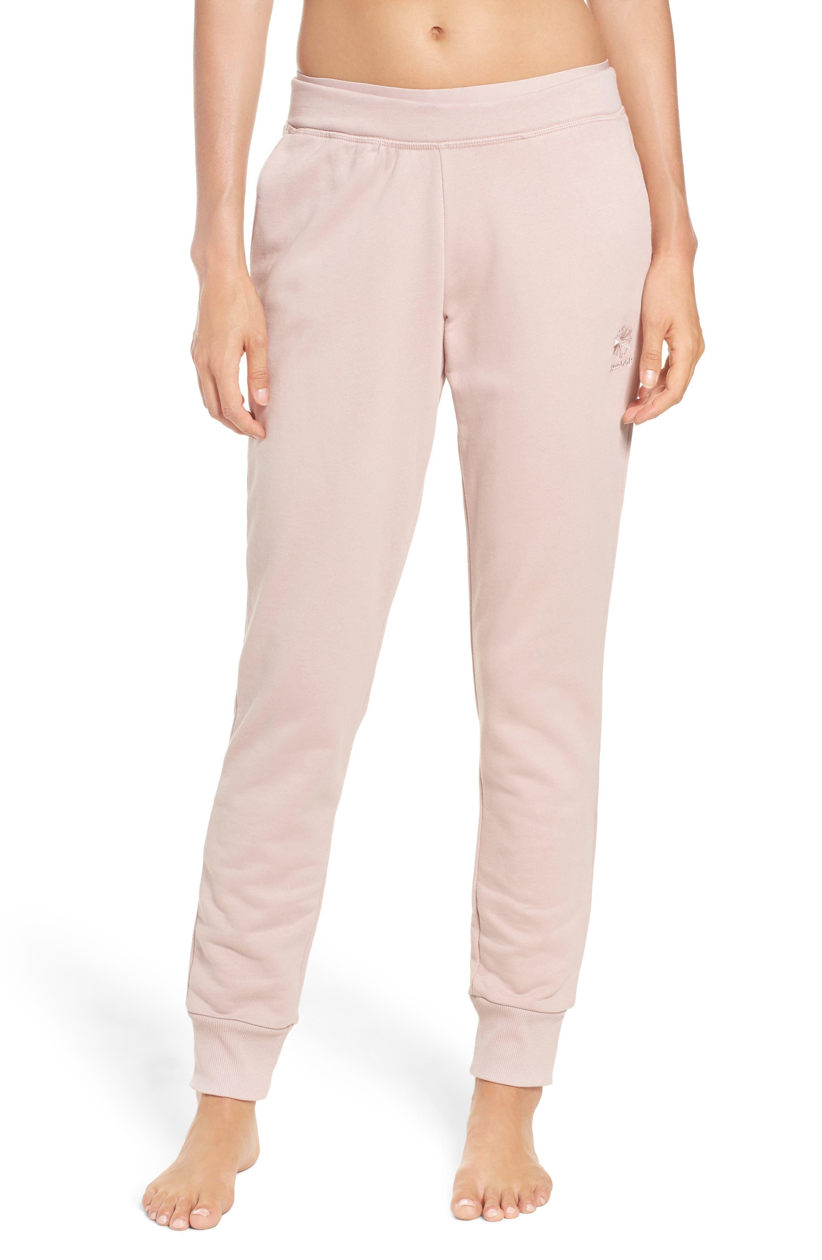 Sweatpants,                         Main,                         color, Shell Pink