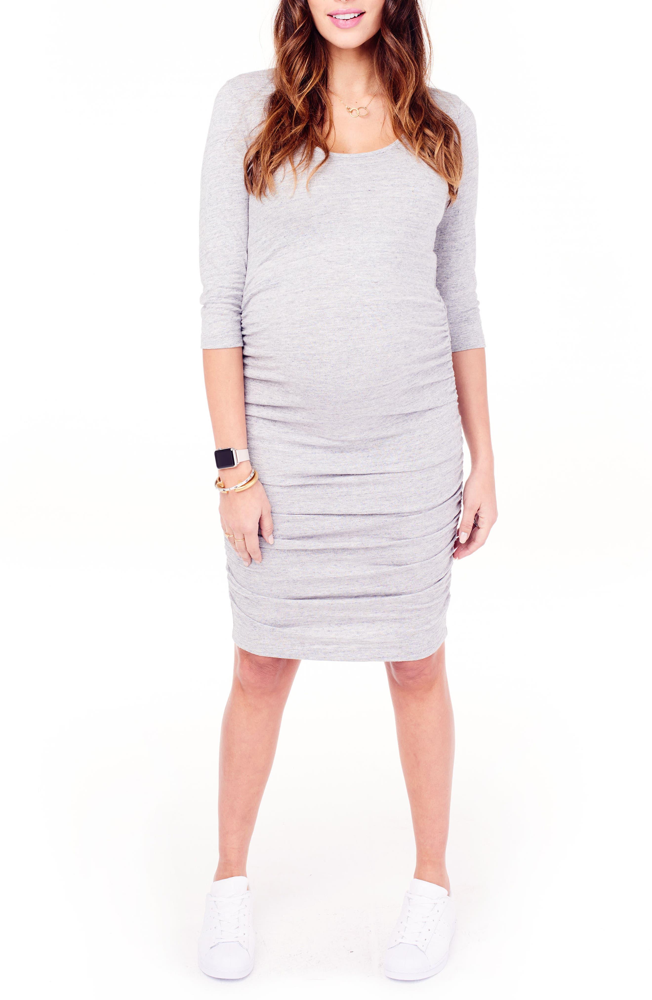 Long dress maternity hood