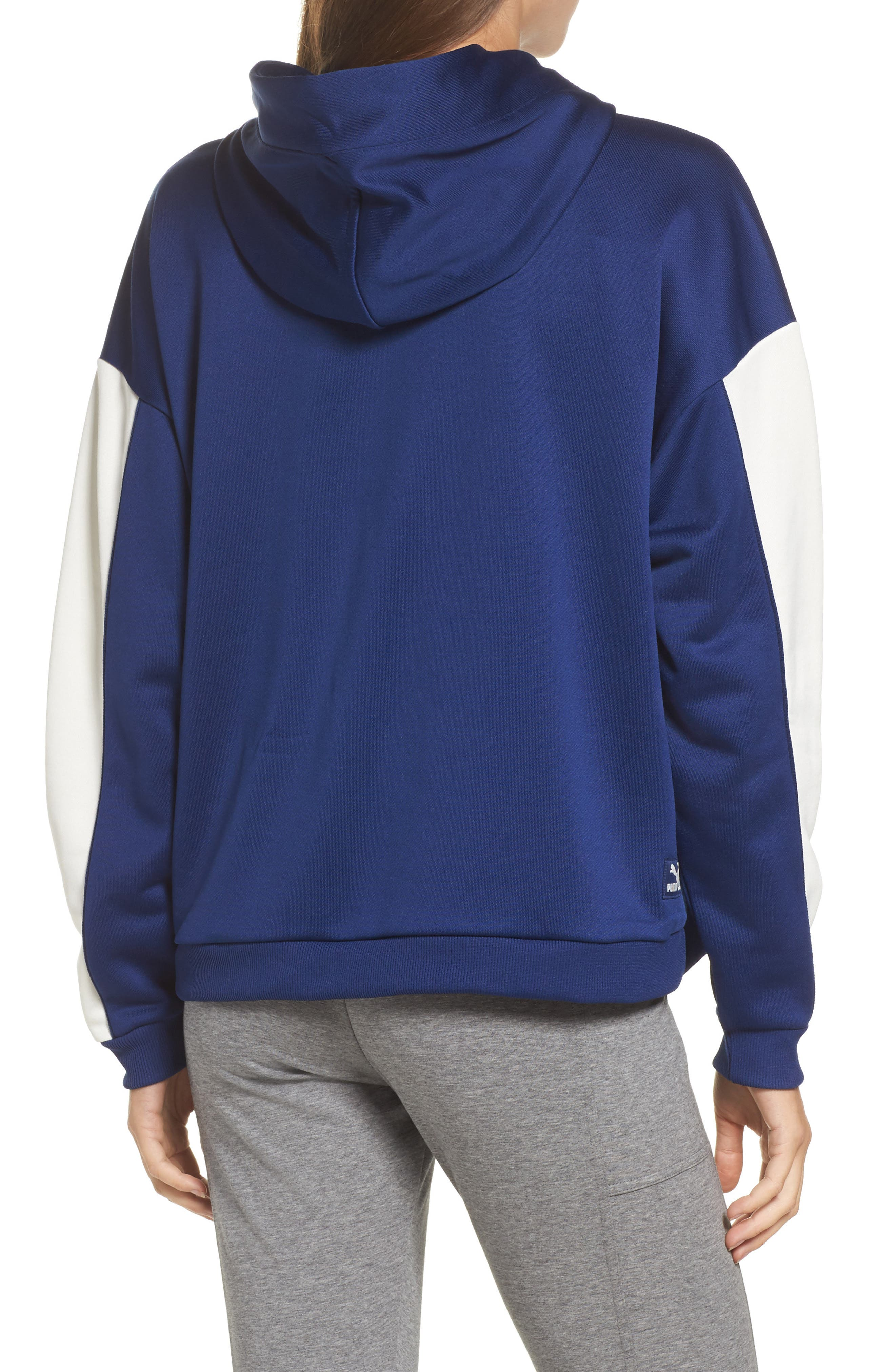 Alternate Image 2  - PUMA Colorblock Oversize Hoodie