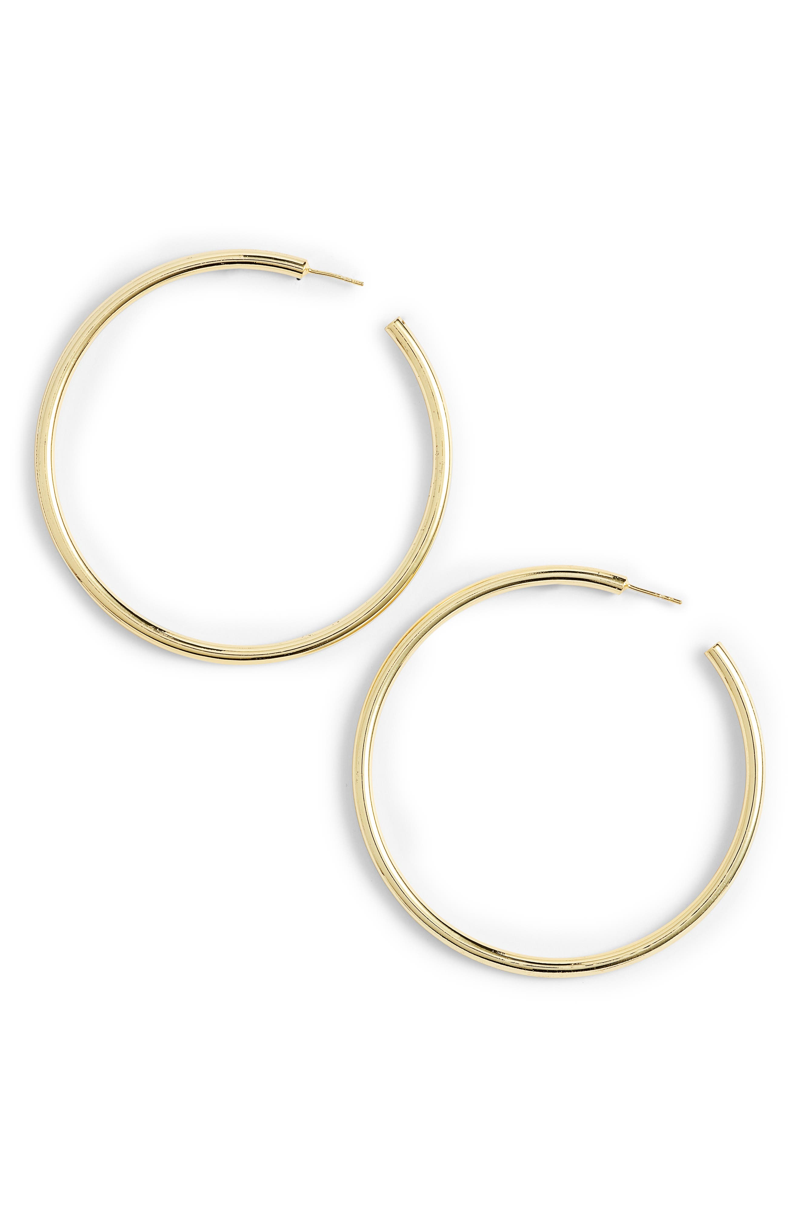 Large Hoop Earrings,                         Main,                         color, Gold