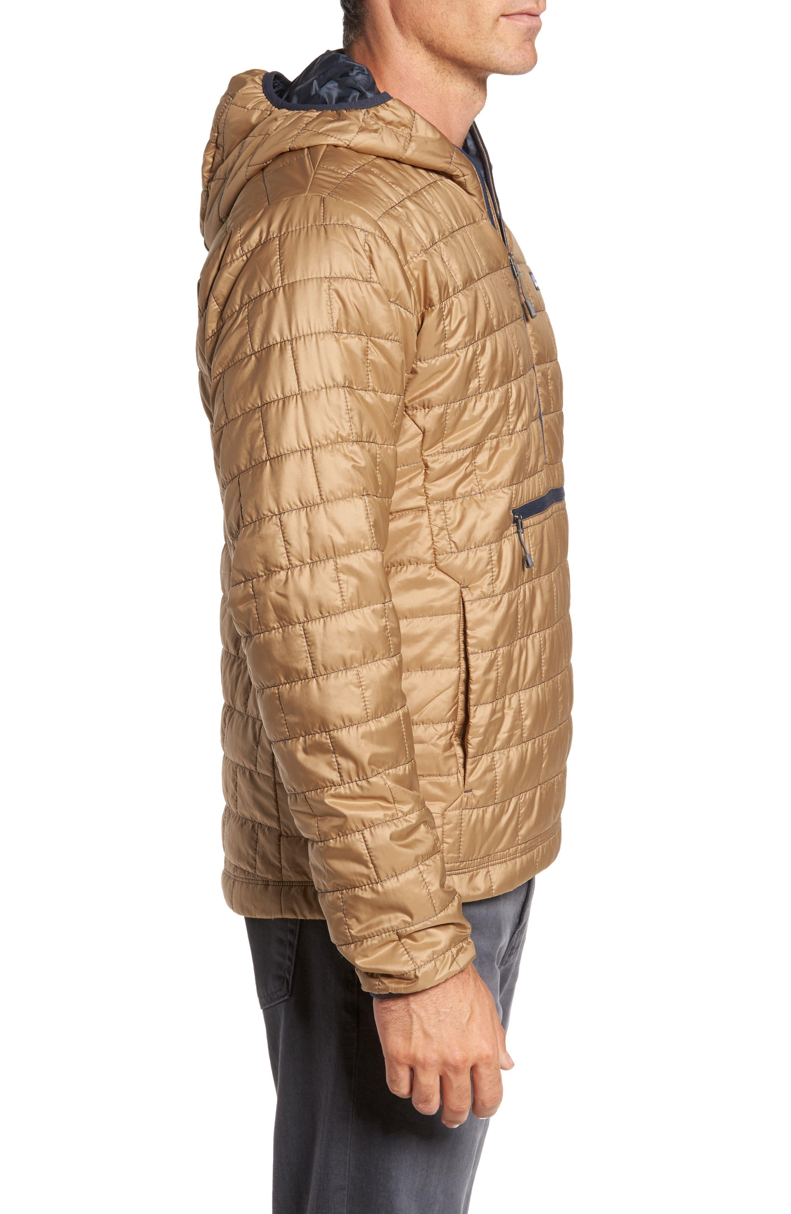 Nano Puff<sup>®</sup> Bivy Regular Fit Water Resistant Jacket,                             Alternate thumbnail 3, color,                             Mojave Khaki
