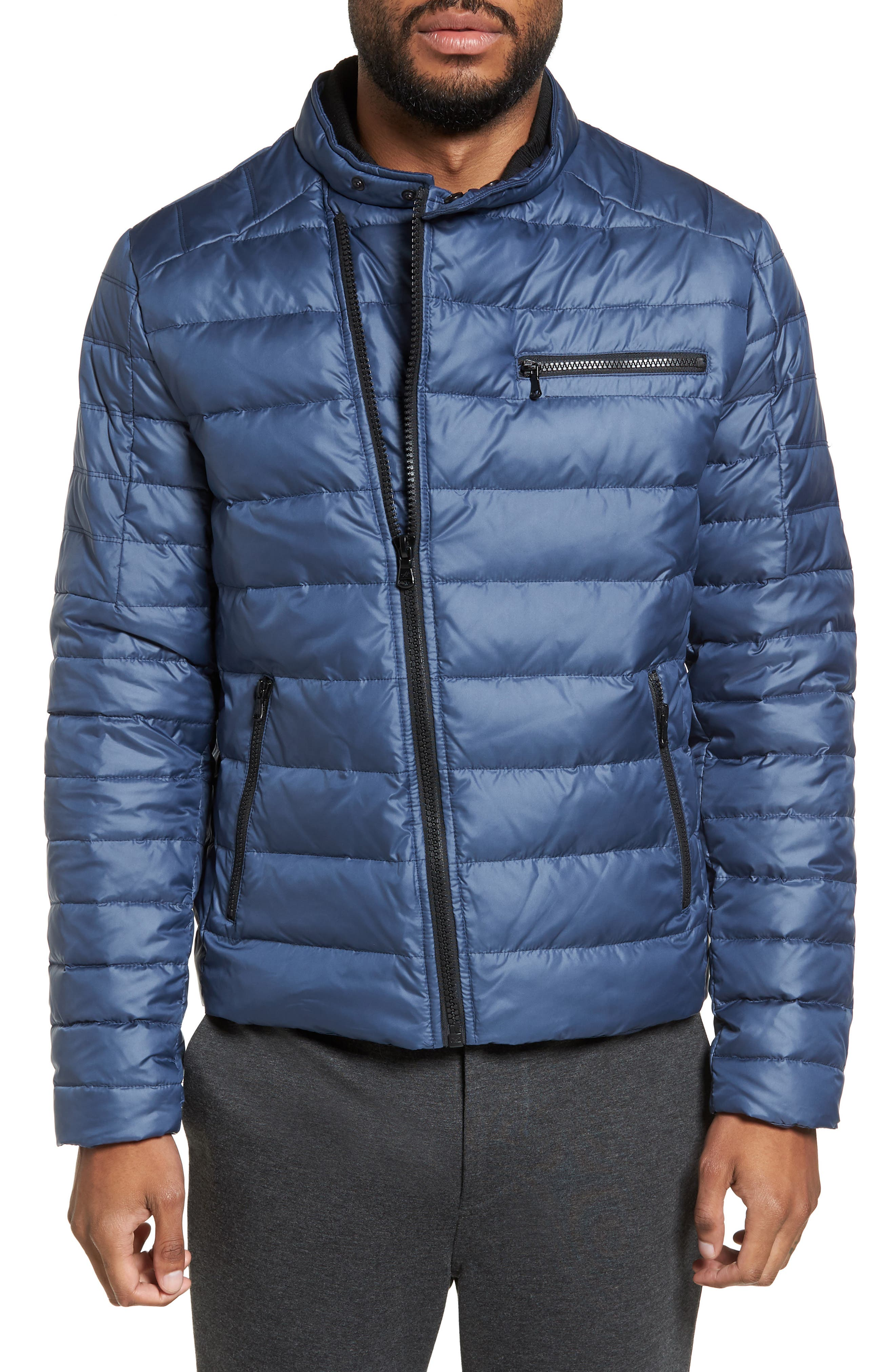 Kenneth Cole New York Asymmetrical Full Zip Insulated Puffer Jacket
