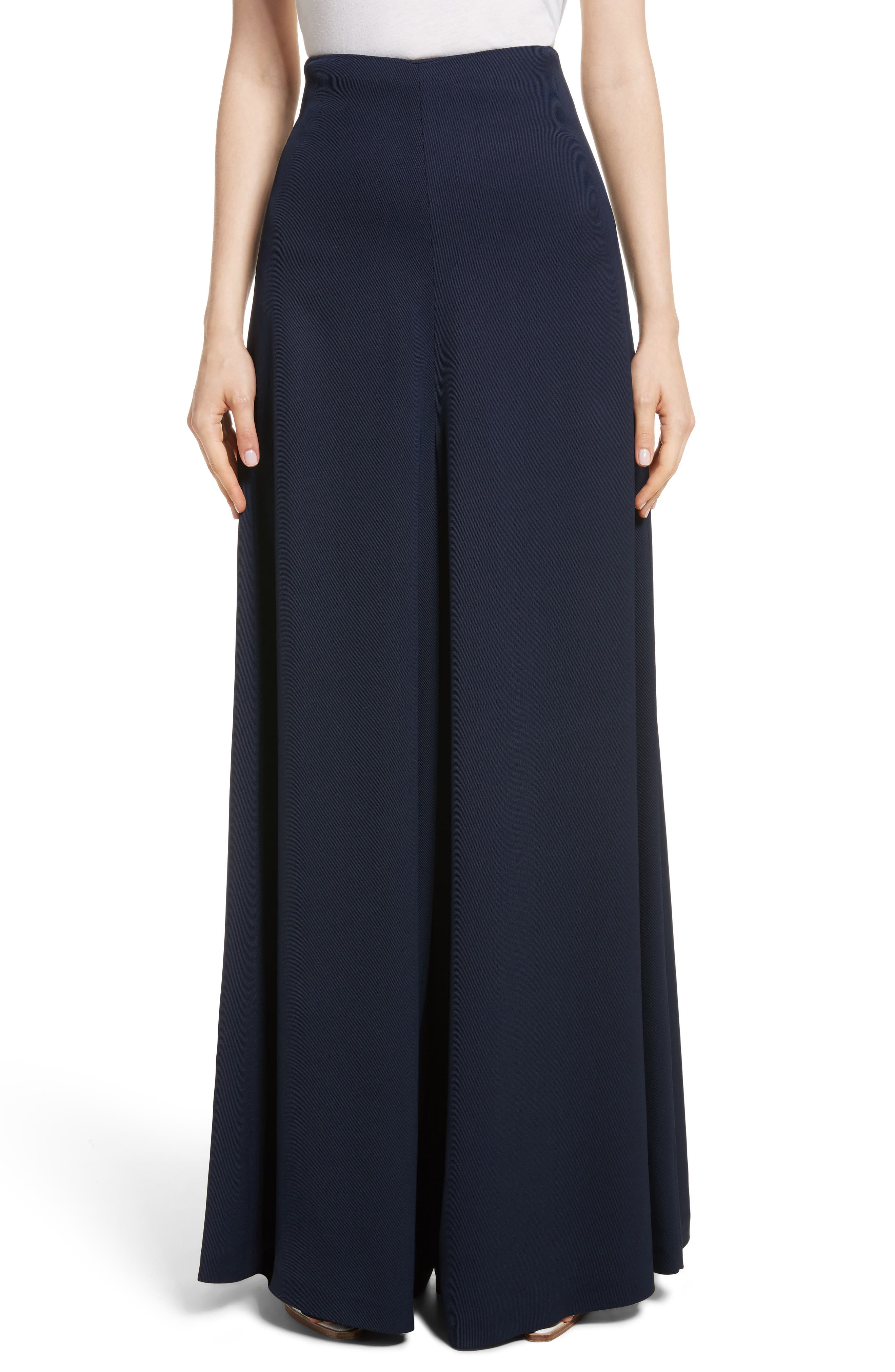 Wide Leg Trousers,                         Main,                         color, Navy