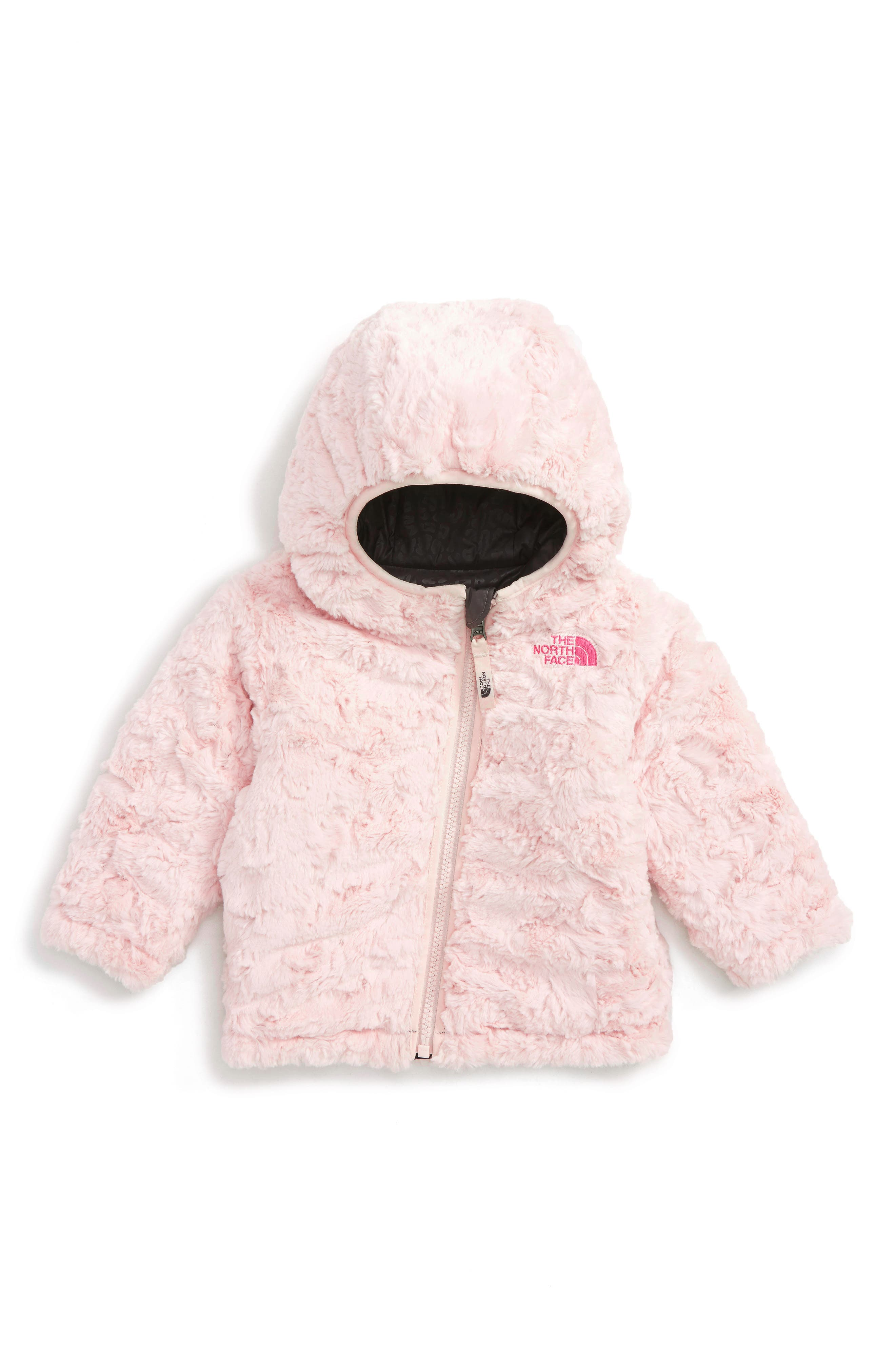 Alternate Image 2  - The North Face Mossbud Swirl Reversible Water Repellent Jacket (Baby Girls)