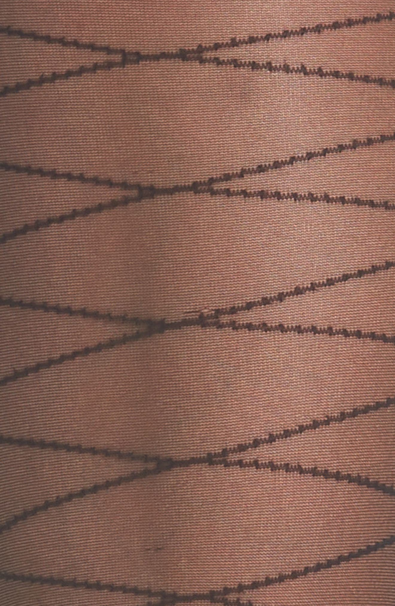 Alternate Image 3  - Beautiful Legs by Caroline Fleming Take Me to New York Stripe Pantyhose