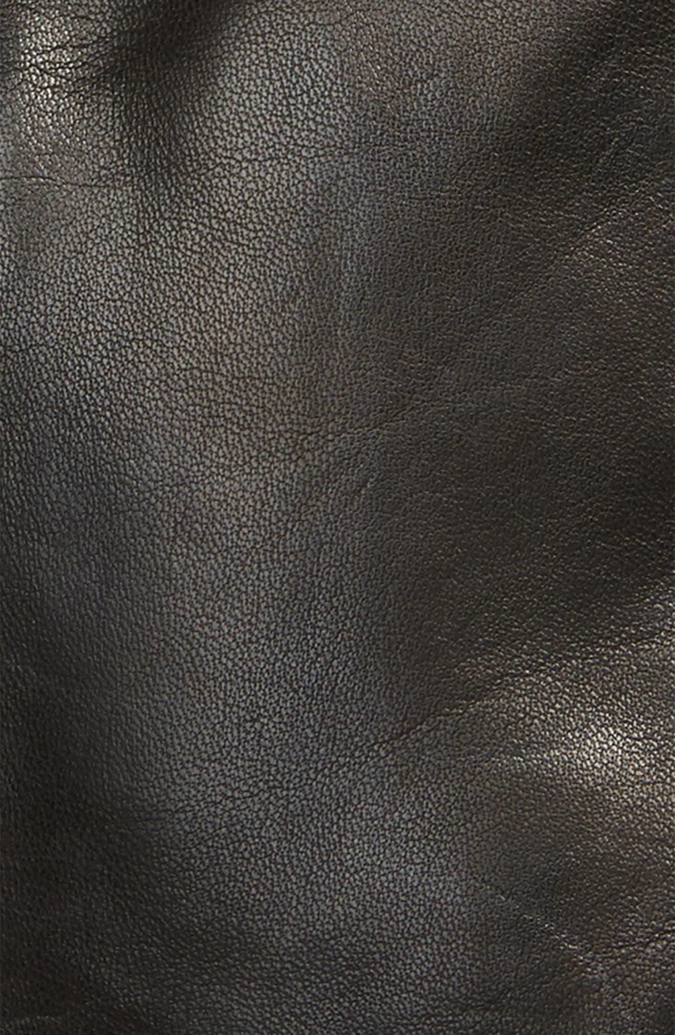 Lambskin Leather Gloves,                             Alternate thumbnail 3, color,                             Noir