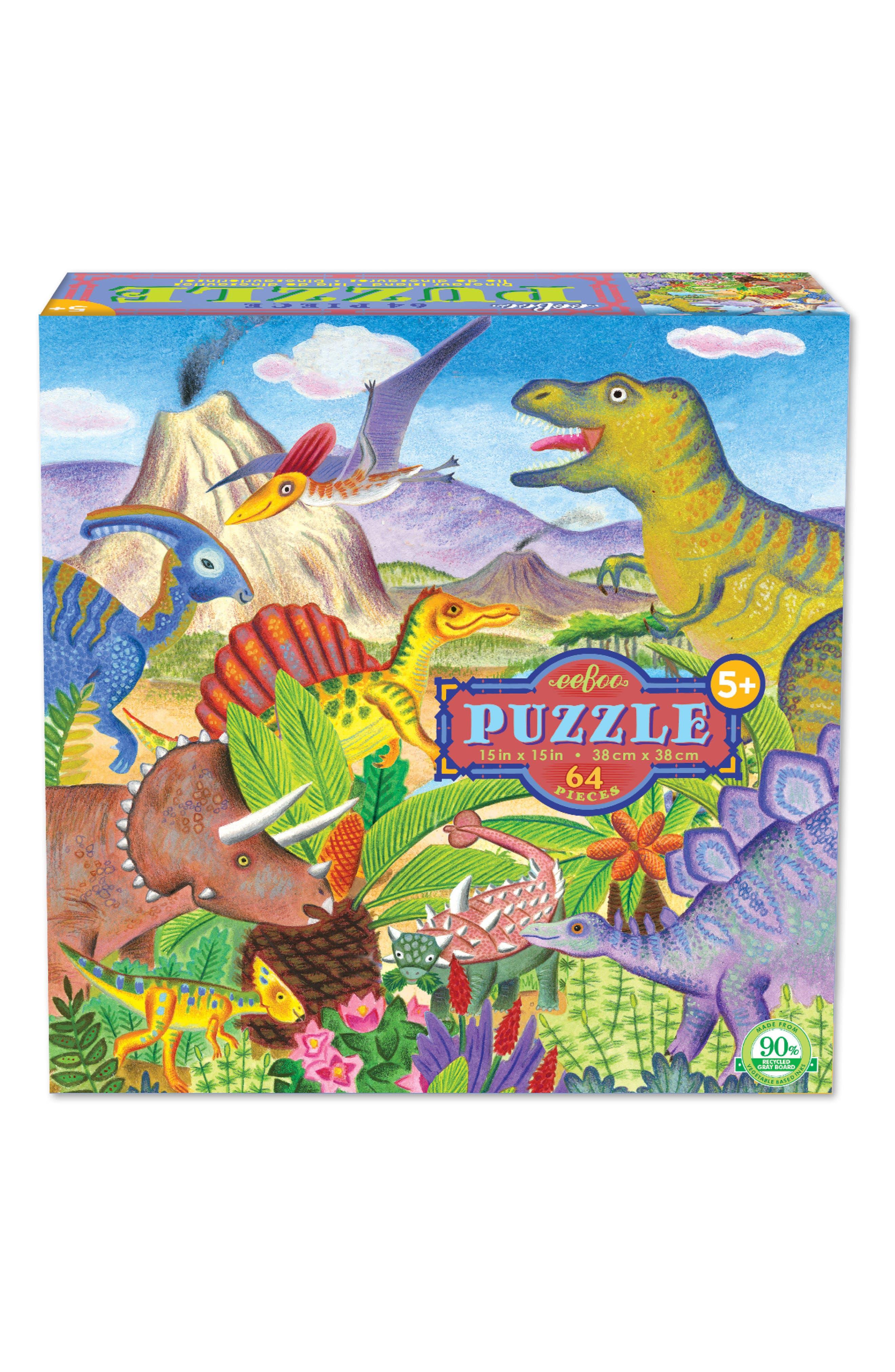 eeBoo Dinosaur Island Jigsaw Puzzle