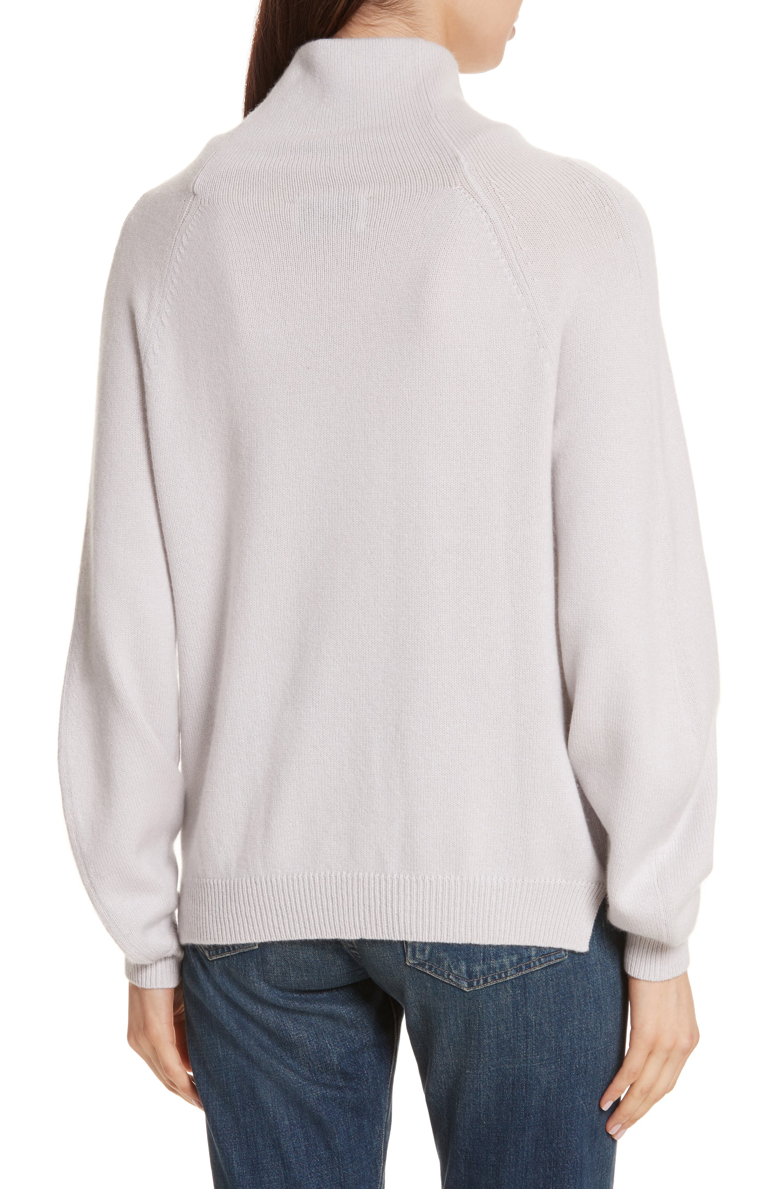 Alternate Image 2  - Allude Balloon Sleeve Cashmere Turtleneck Sweater