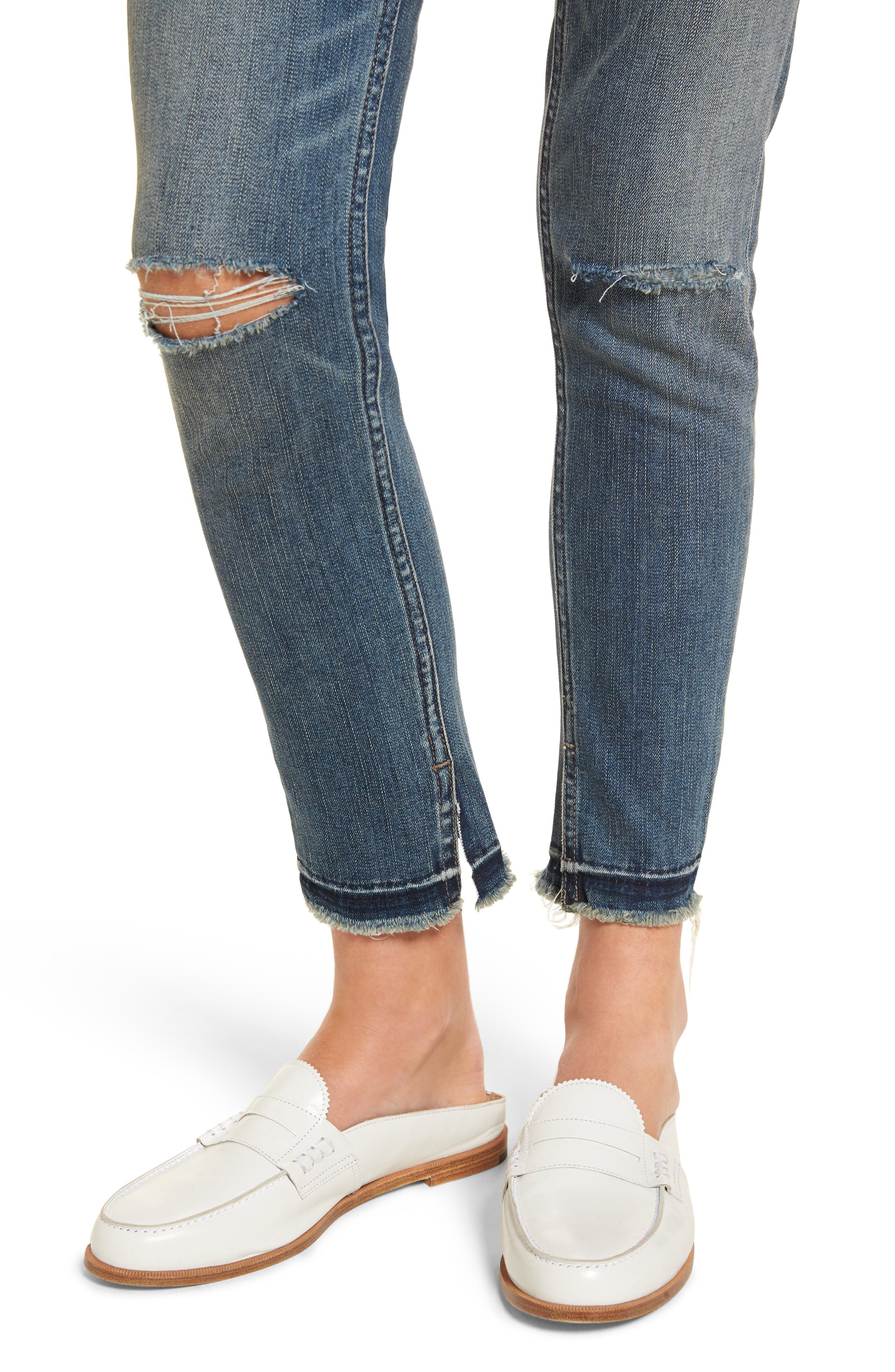 Alternate Image 4  - Treasure & Bond Ankle Skinny Jeans (Rain Dusk Destroy)