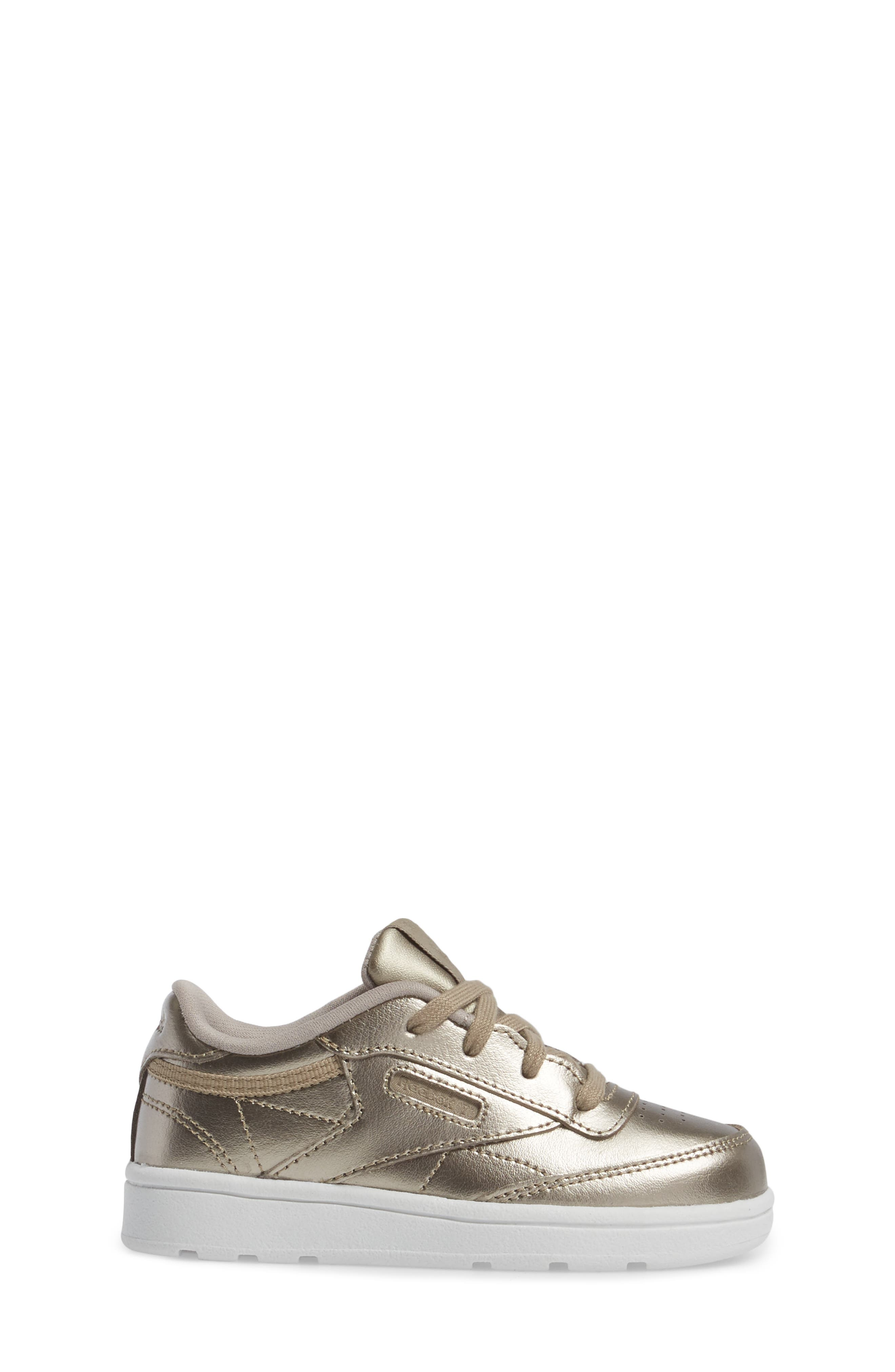 Alternate Image 3  - Reebok Club C Melted Metallic Sneaker (Baby, Walker & Toddler)