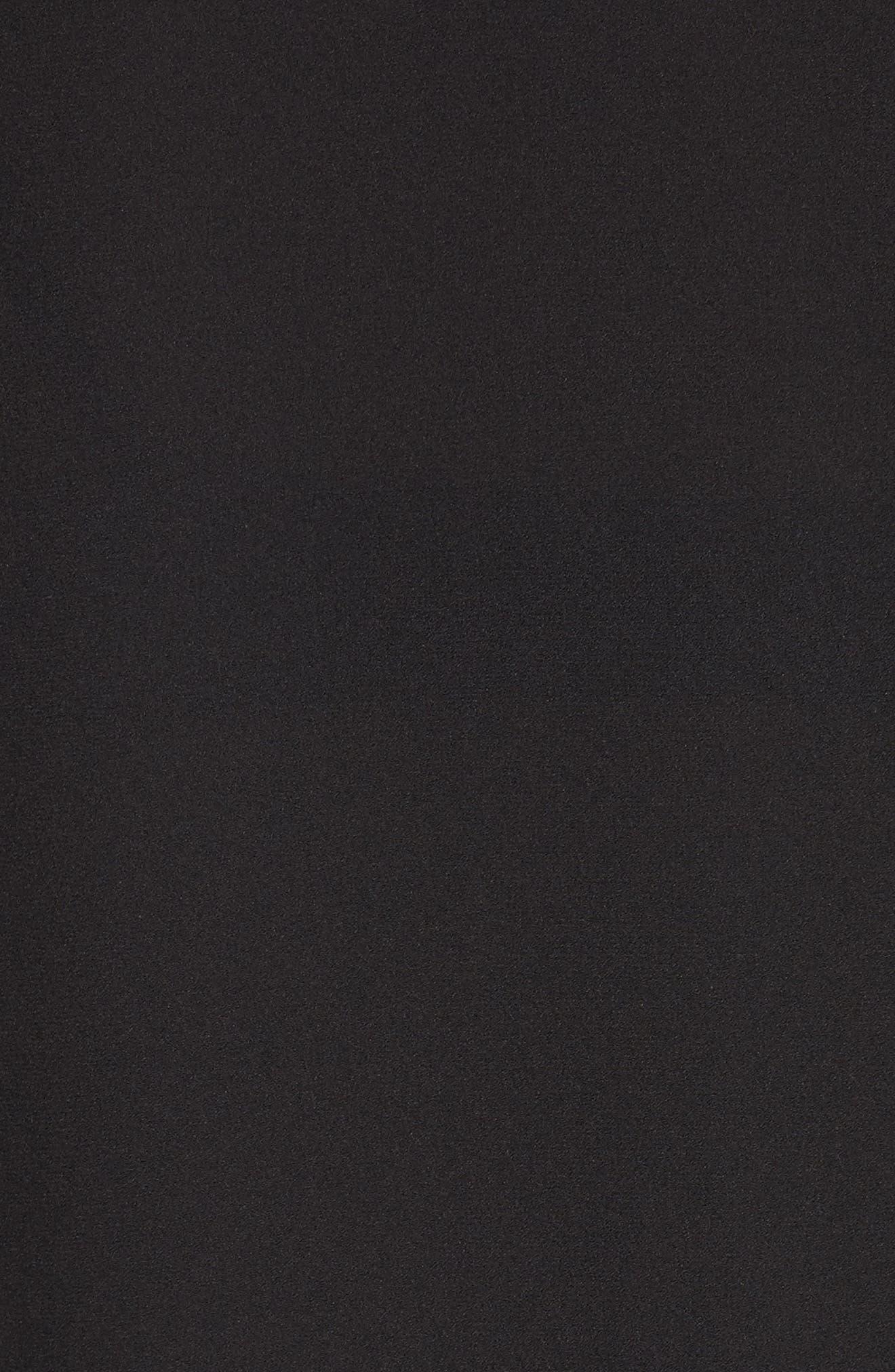 Ruffle Sleeve Silk Blouse,                             Alternate thumbnail 5, color,                             Black