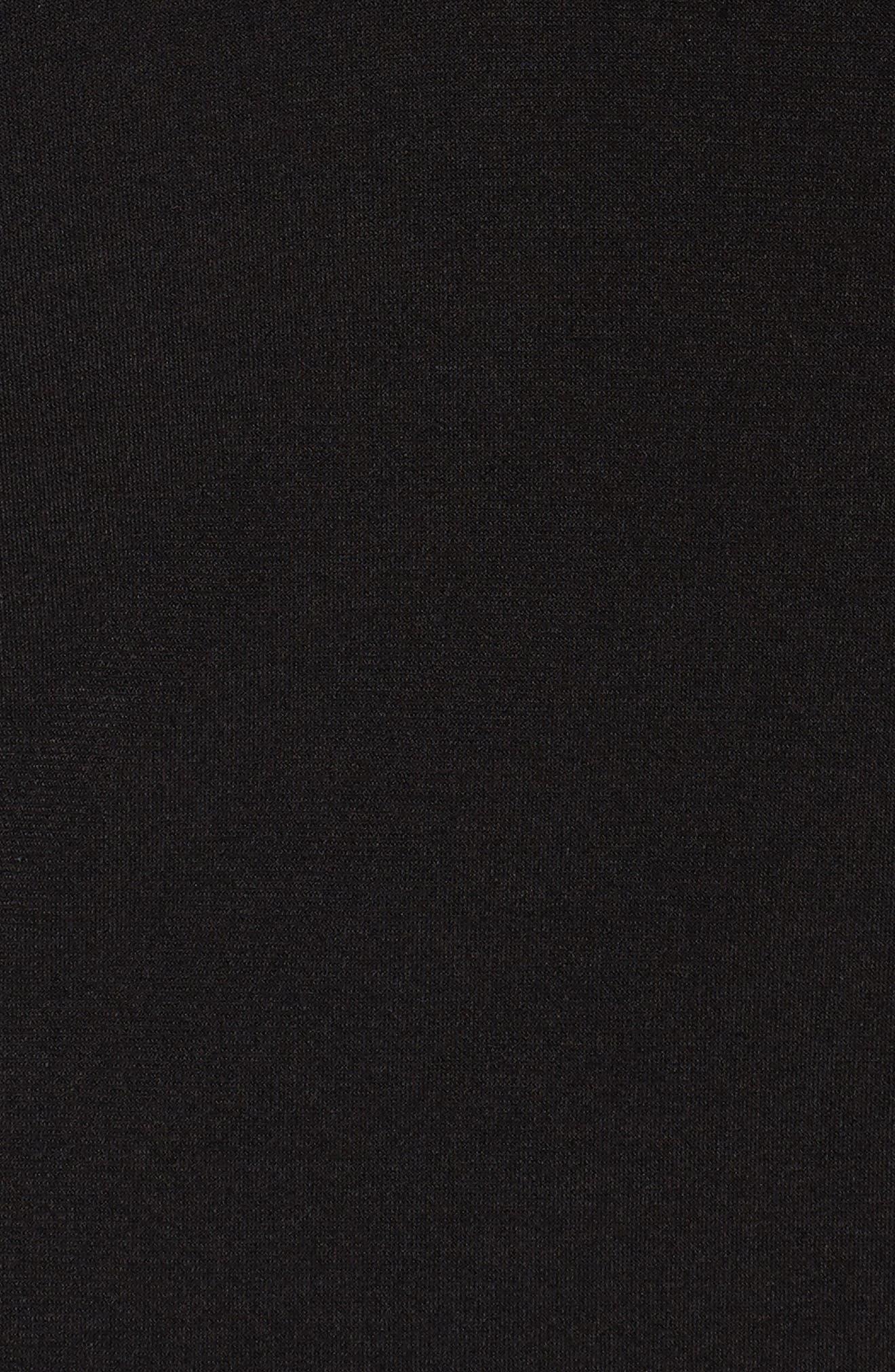 Alternate Image 5  - MICHAEL Michael Kors Cold Shoulder Crepe Top with Faux Leather Trim (Plus Size)