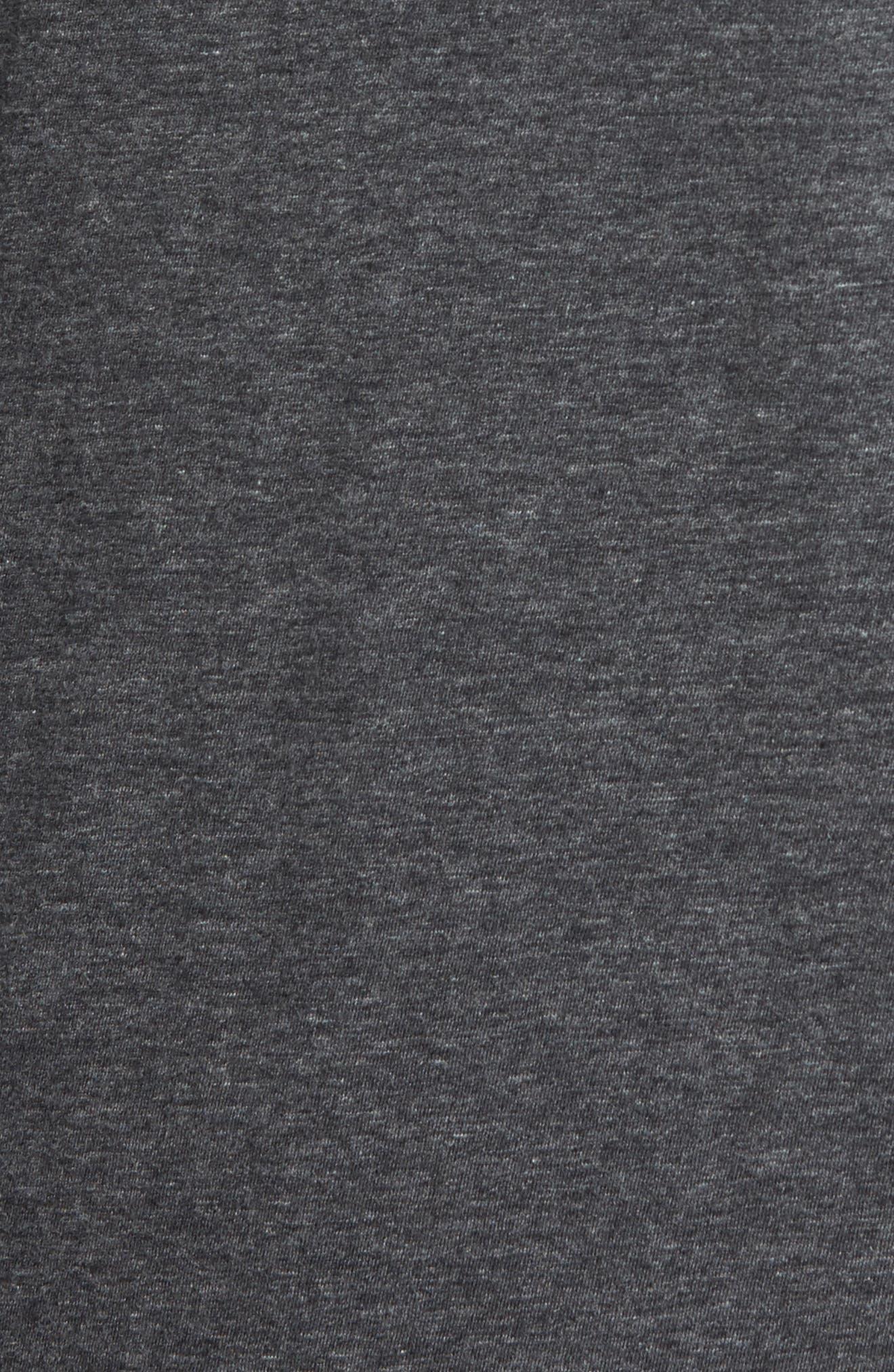 Flynn V-Neck T-Shirt,                             Alternate thumbnail 5, color,                             Charcoal