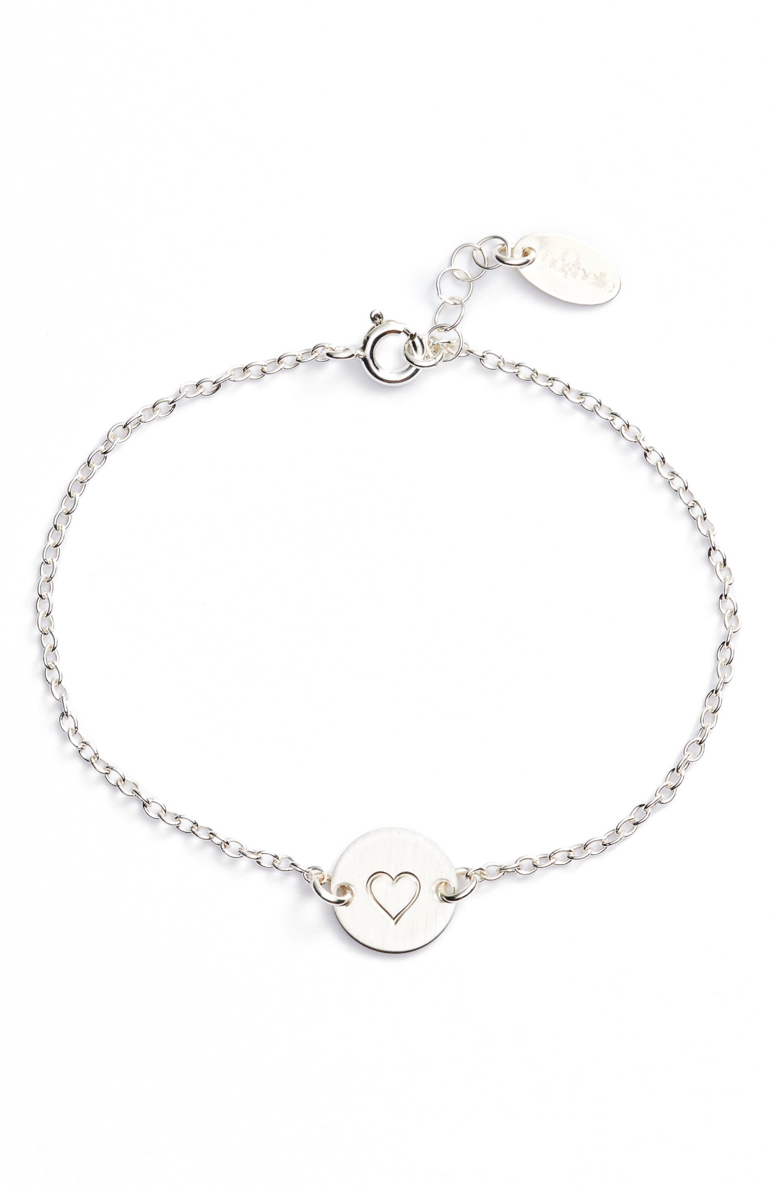 Mini Coin Bracelet,                             Main thumbnail 1, color,                             Silver