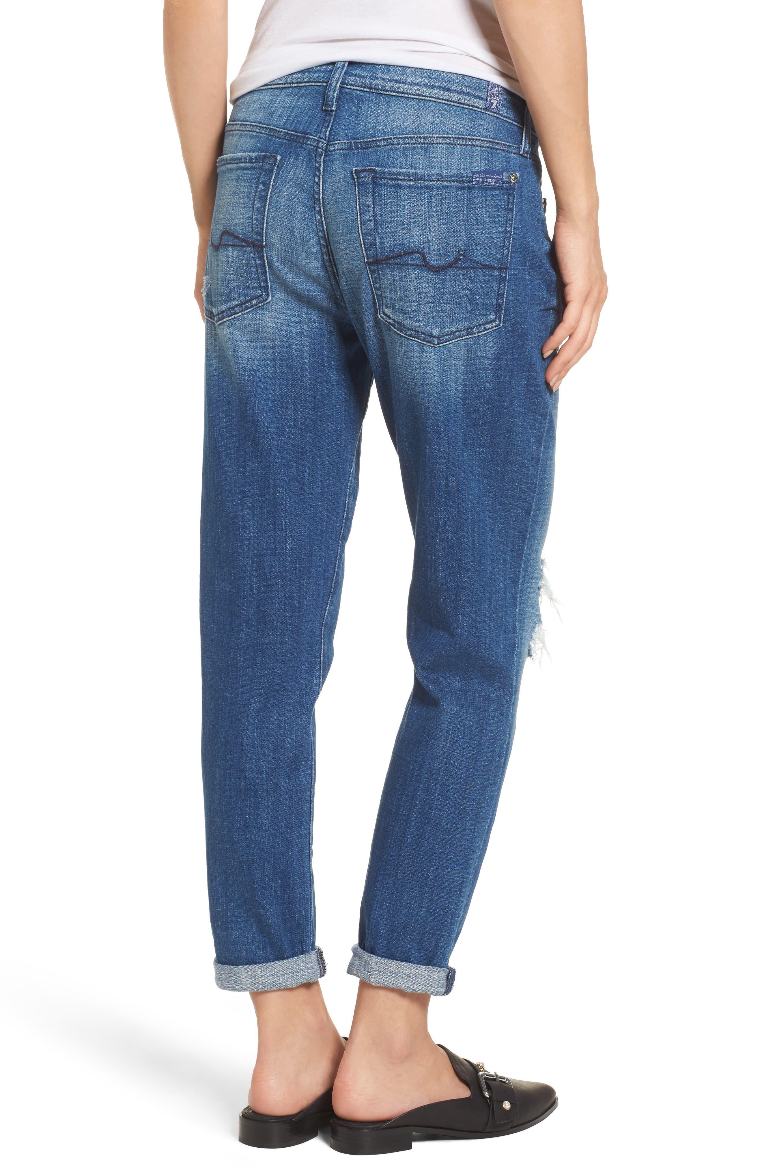 Josefina Boyfriend Jeans,                             Alternate thumbnail 2, color,                             Boyd Blue 2