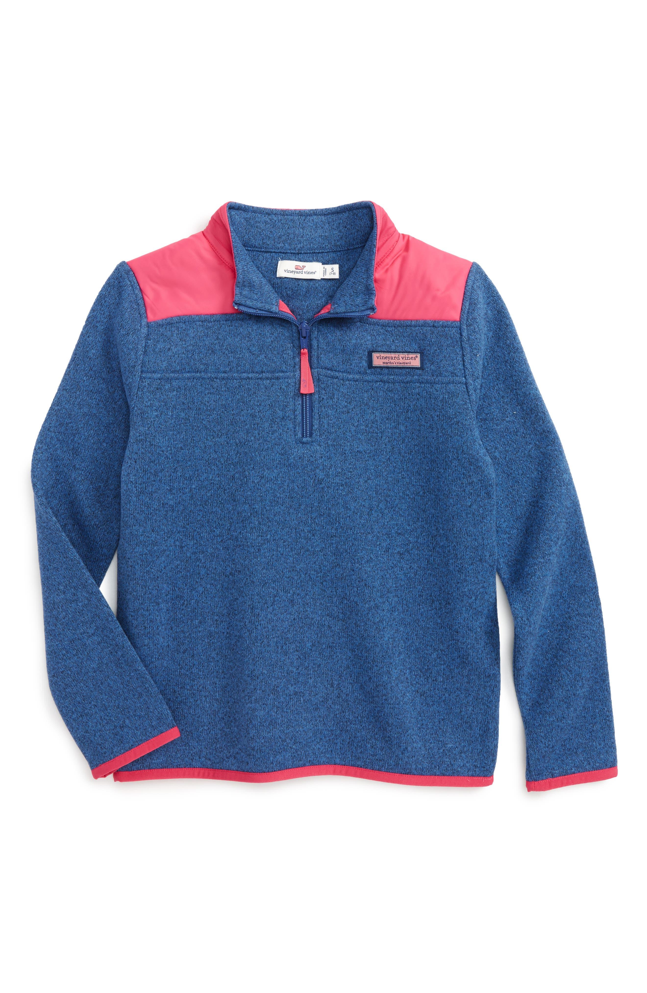 Vineyard Vines Shep Sweater Fleece Pullover (Toddler Girls, Little Girls & Big Girls)