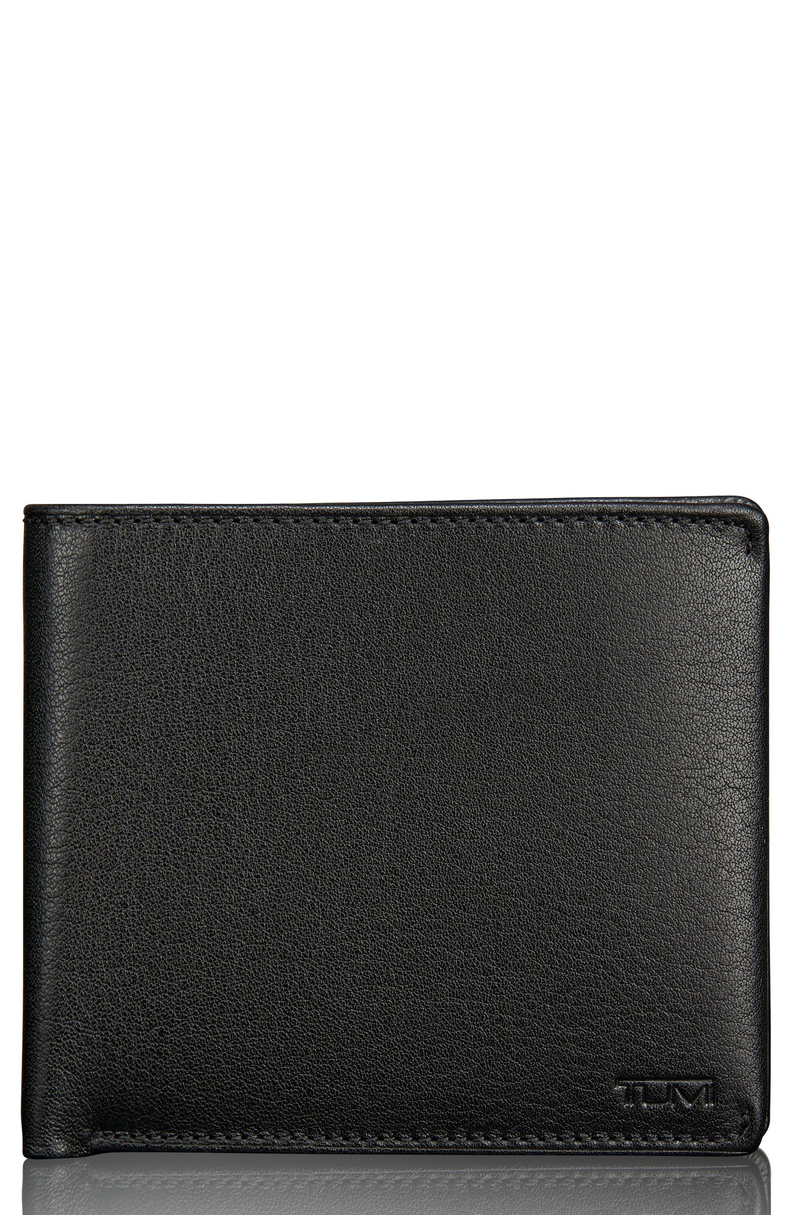 Global Leather Passcase Wallet,                         Main,                         color, Black Textured