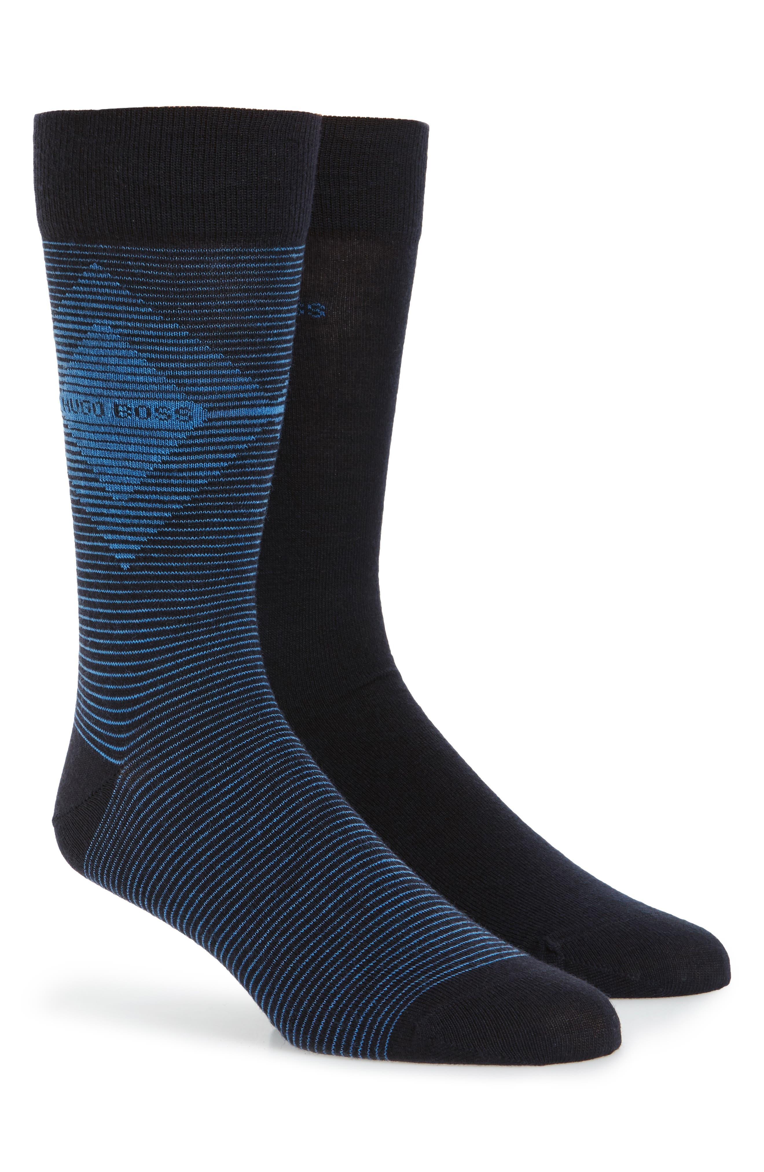 BOSS 2-Pack Wool Blend Socks
