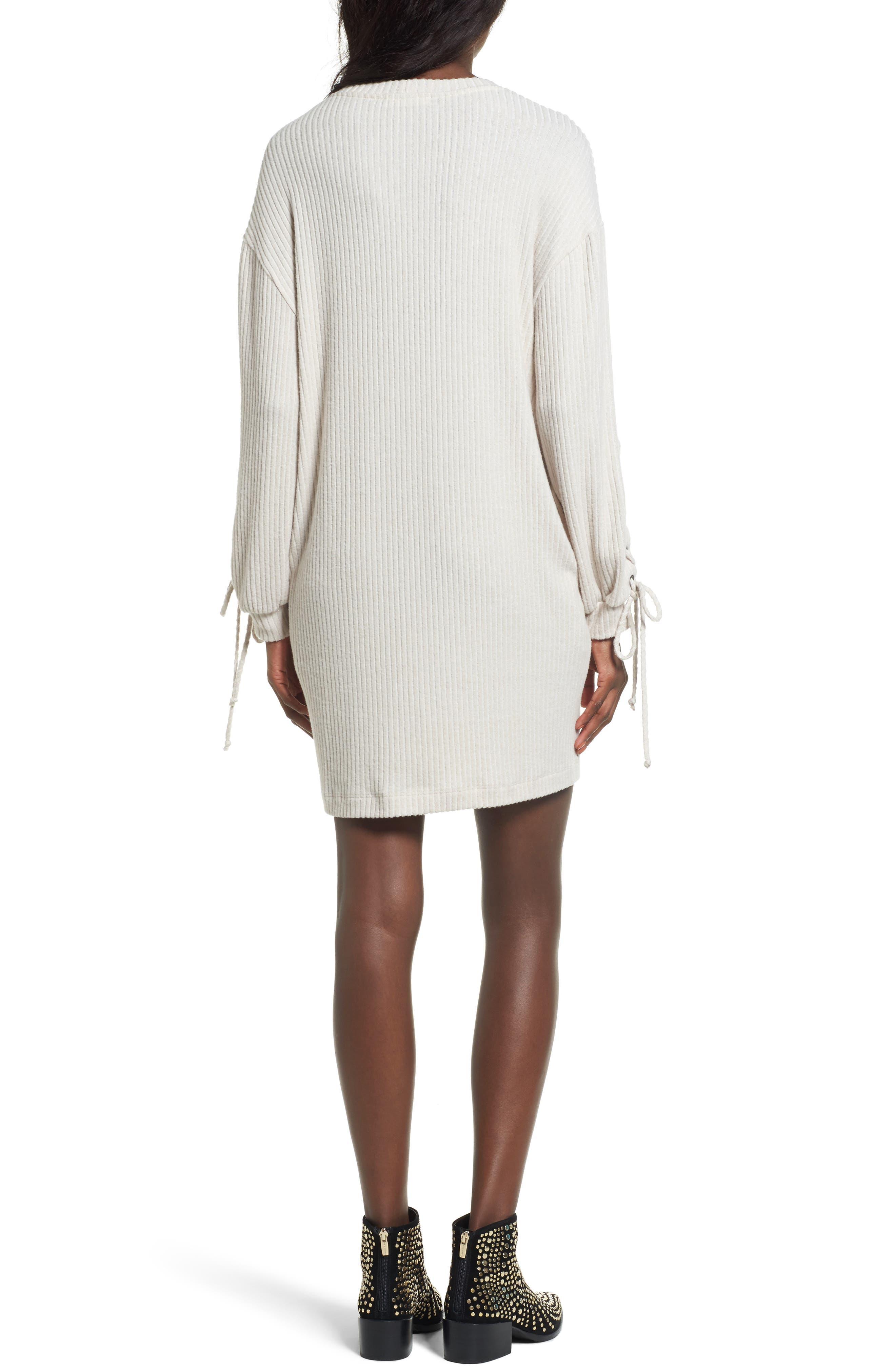 Alternate Image 2  - Lace-Up Sweater Dress