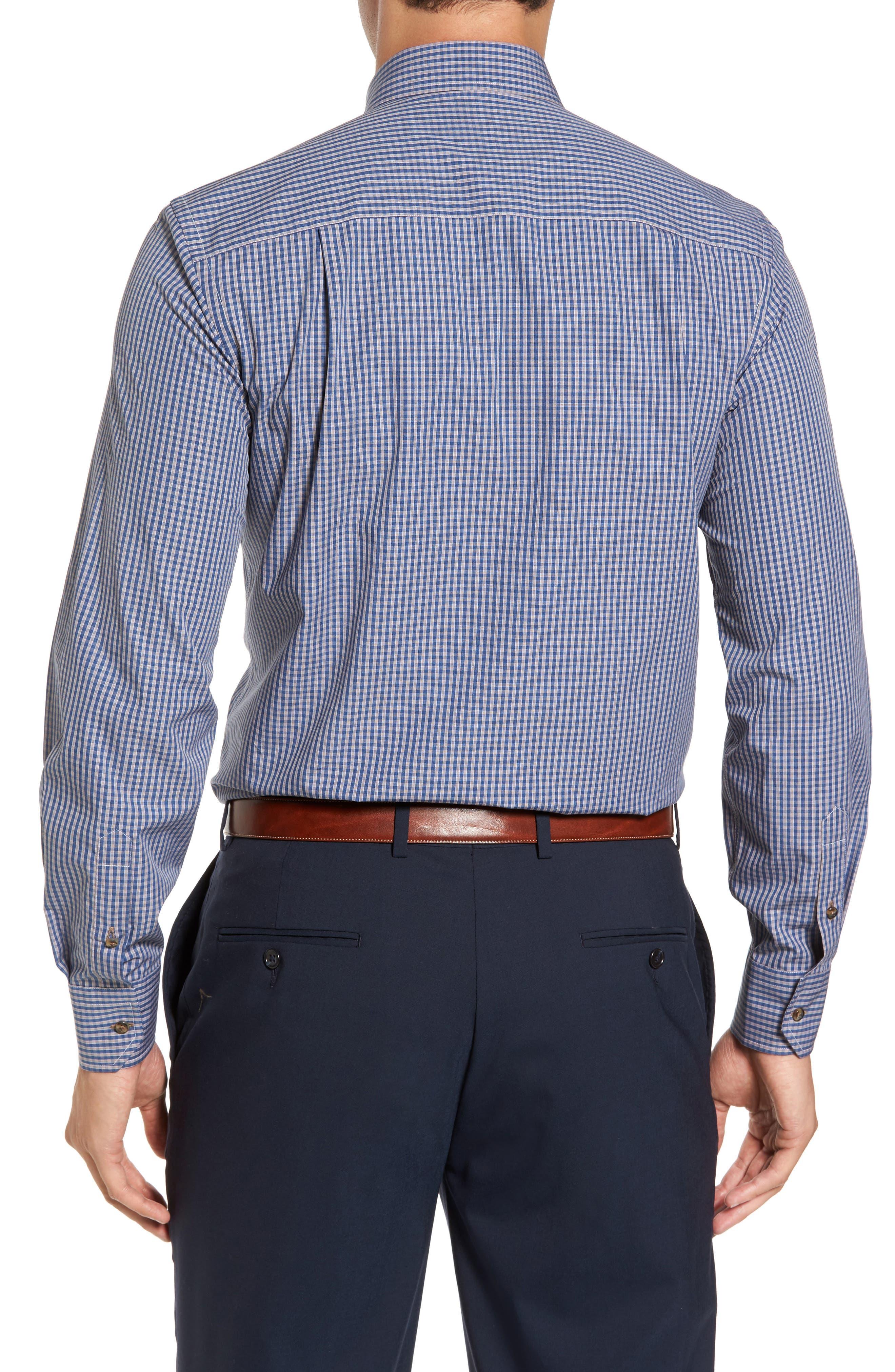 Regular Fit Check Sport Shirt,                             Alternate thumbnail 2, color,                             Navy/ Chocolate