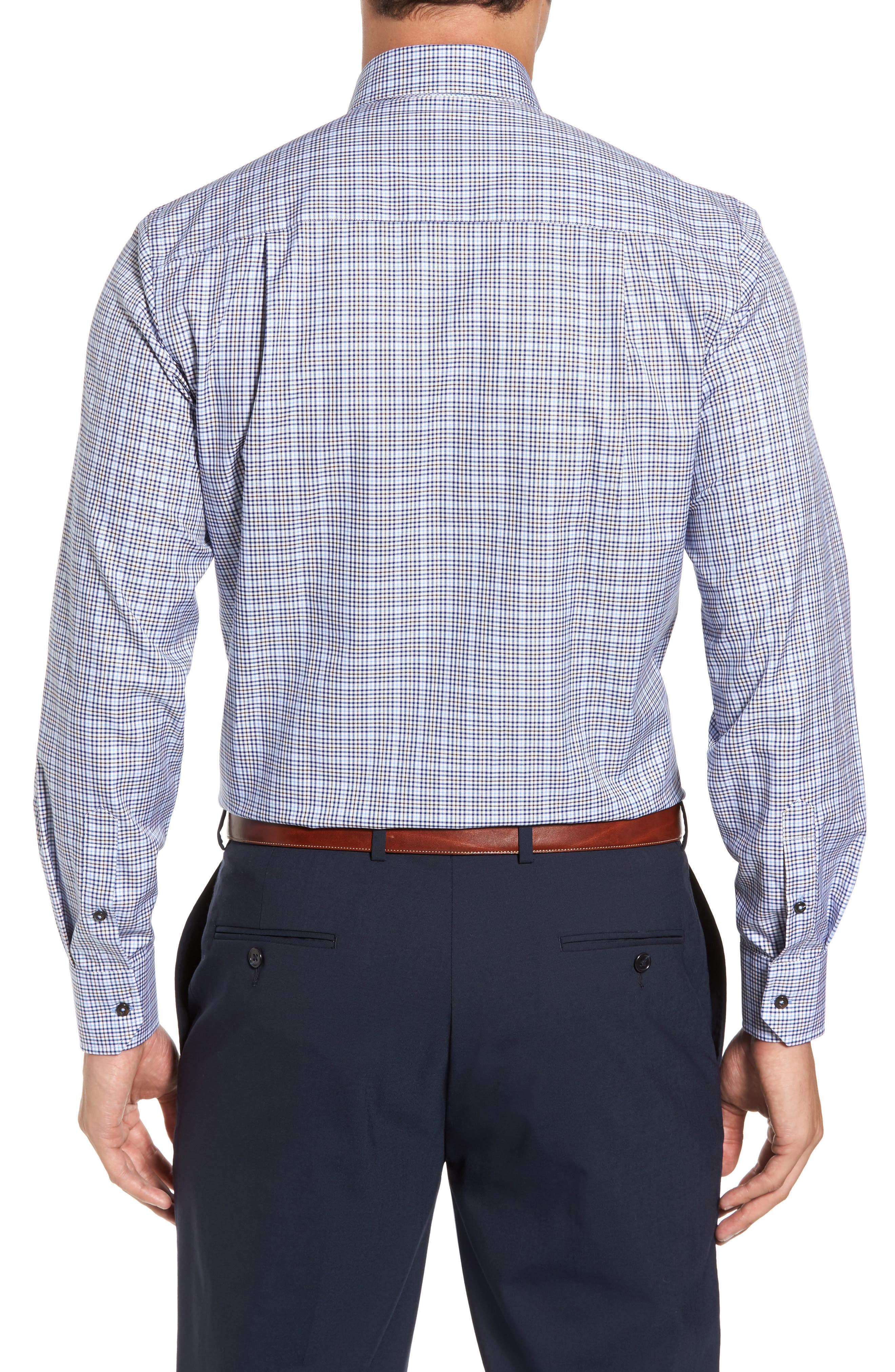 Alternate Image 2  - David Donahue Regular Fit Plaid Sport Shirt