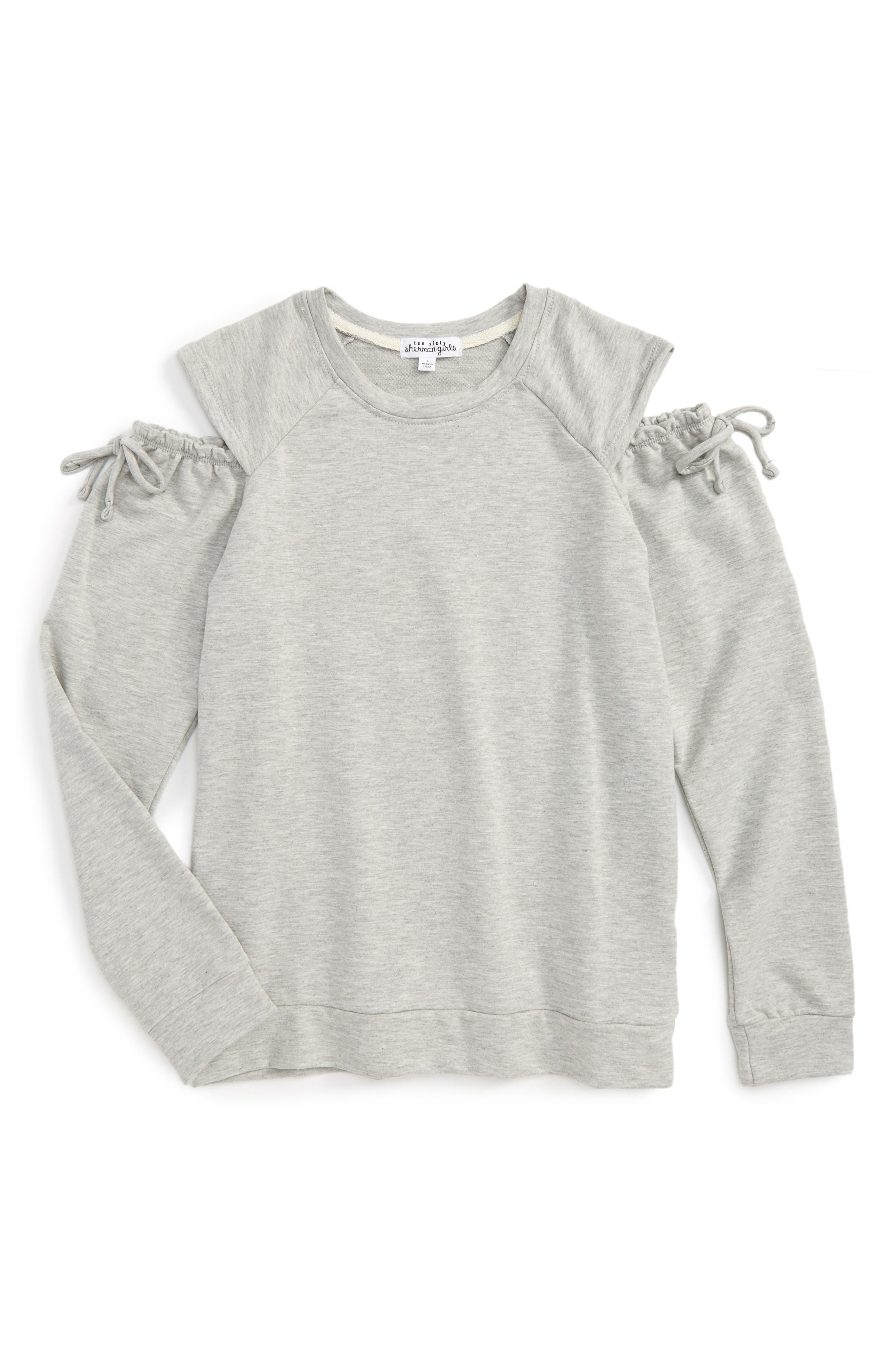 Ten Sixty Sherman Cold Shoulder Sweatshirt (Big Girls)