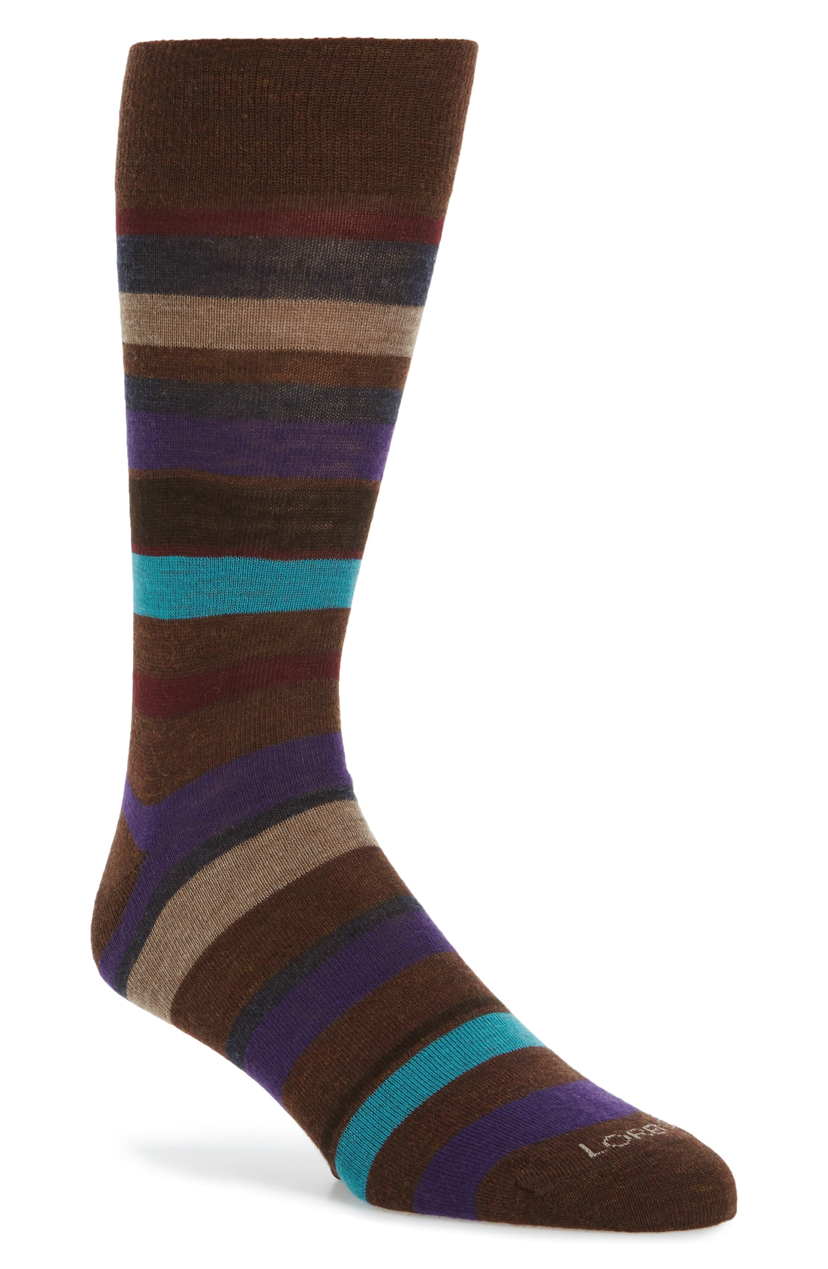 Multistripe Socks,                         Main,                         color, Taupe