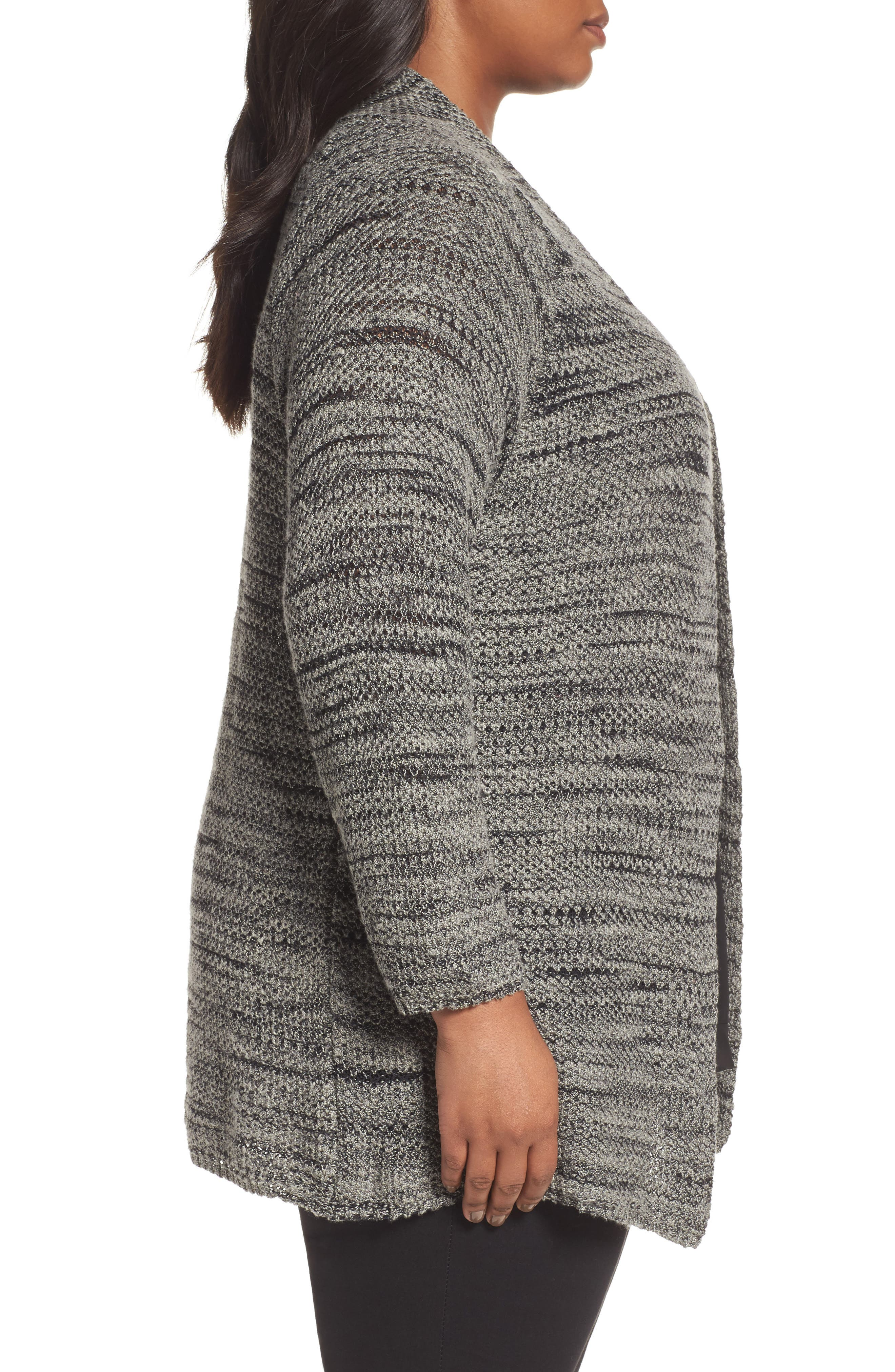 Thick & Thin Cardigan,                             Alternate thumbnail 3, color,                             Lichen