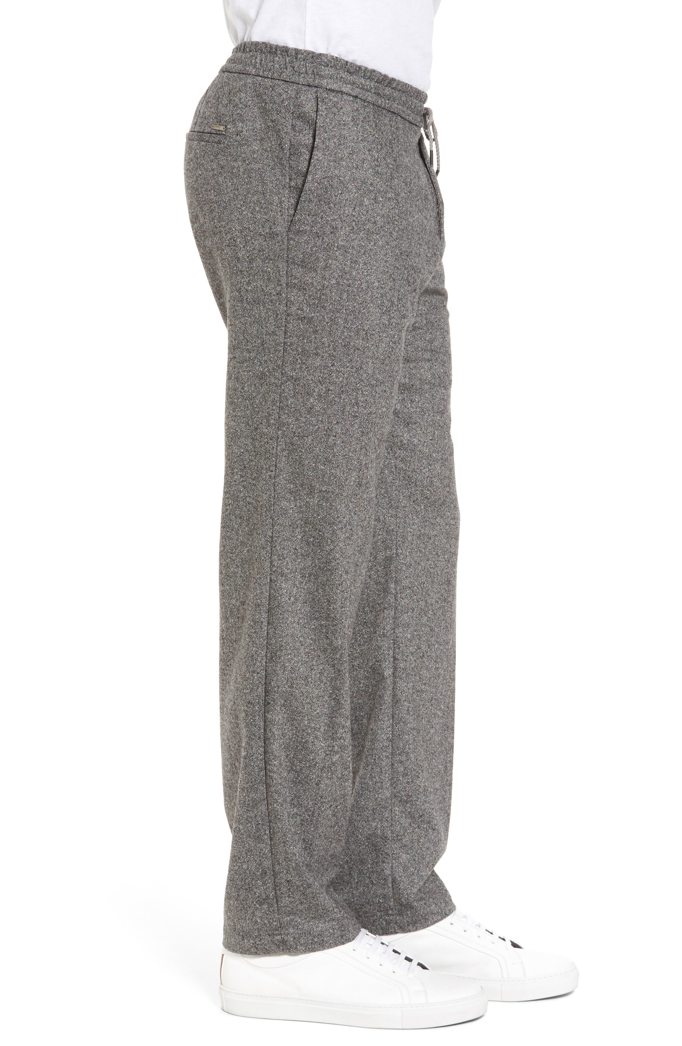 Barne Drawstring Waist Trousers,                             Alternate thumbnail 3, color,                             Grey