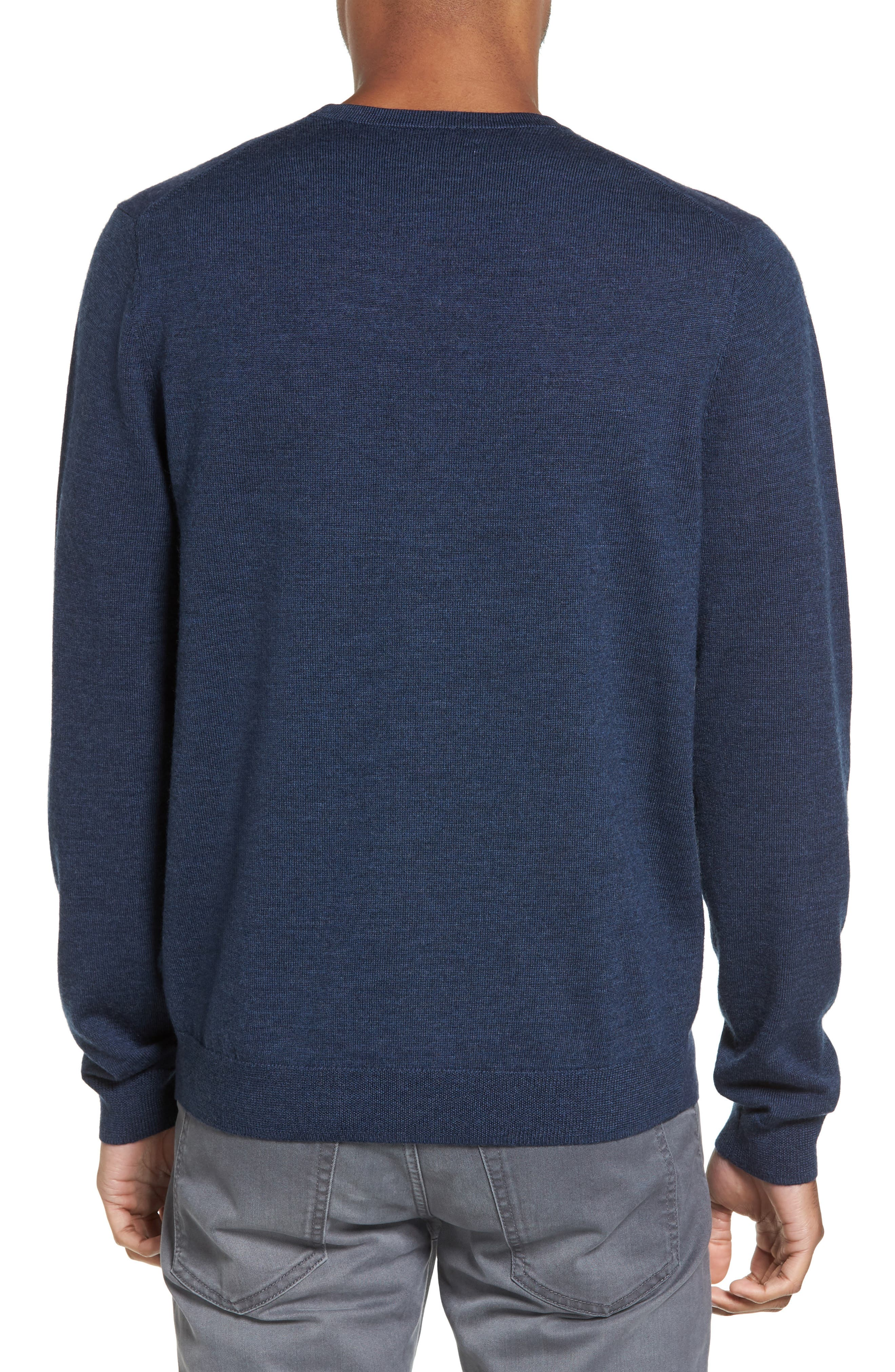 Merino Wool Blend Sweater,                             Alternate thumbnail 2, color,                             Navy Iris