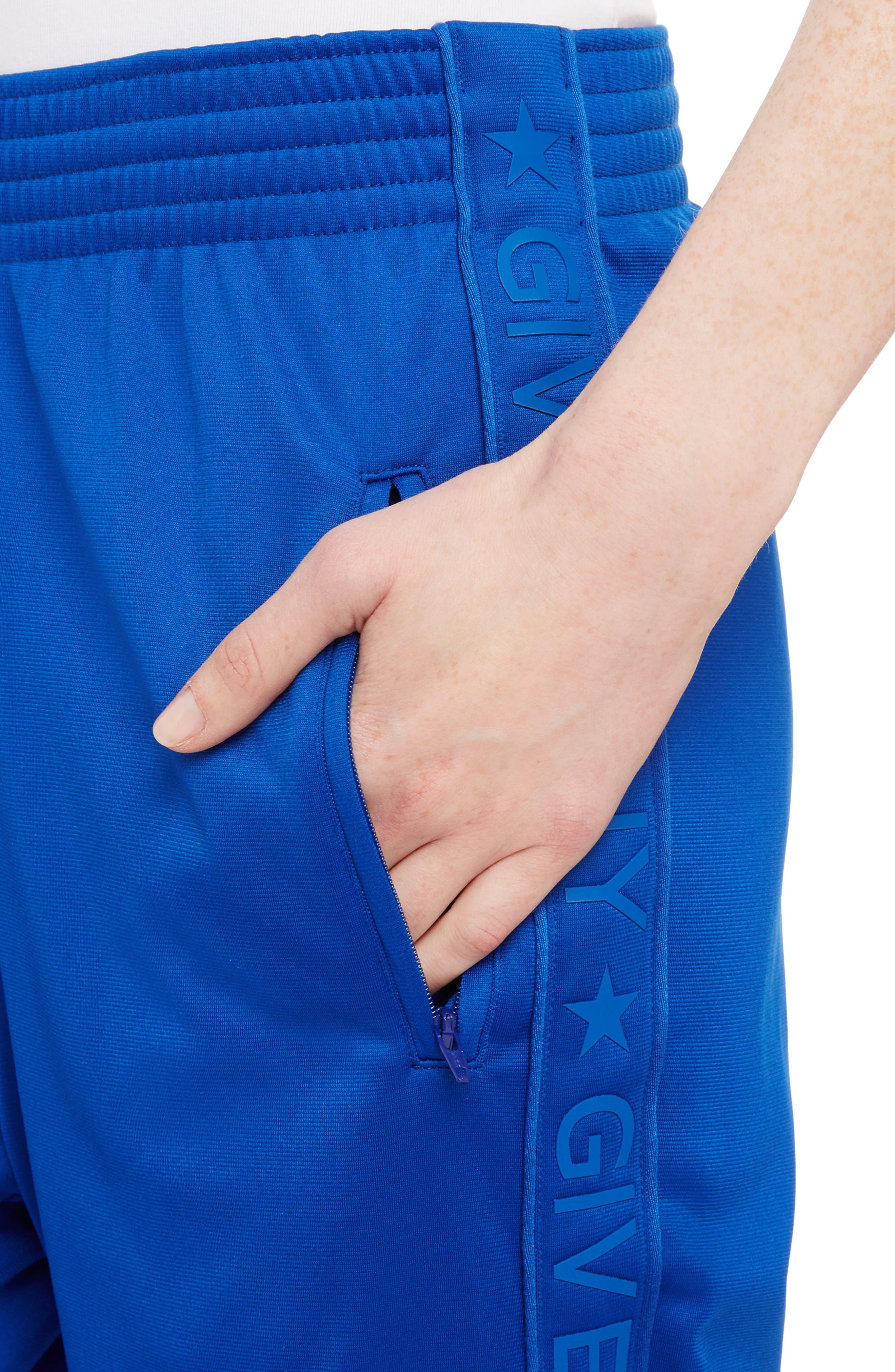 Tonal Logo Track Pants,                             Alternate thumbnail 4, color,                             Electric Blue