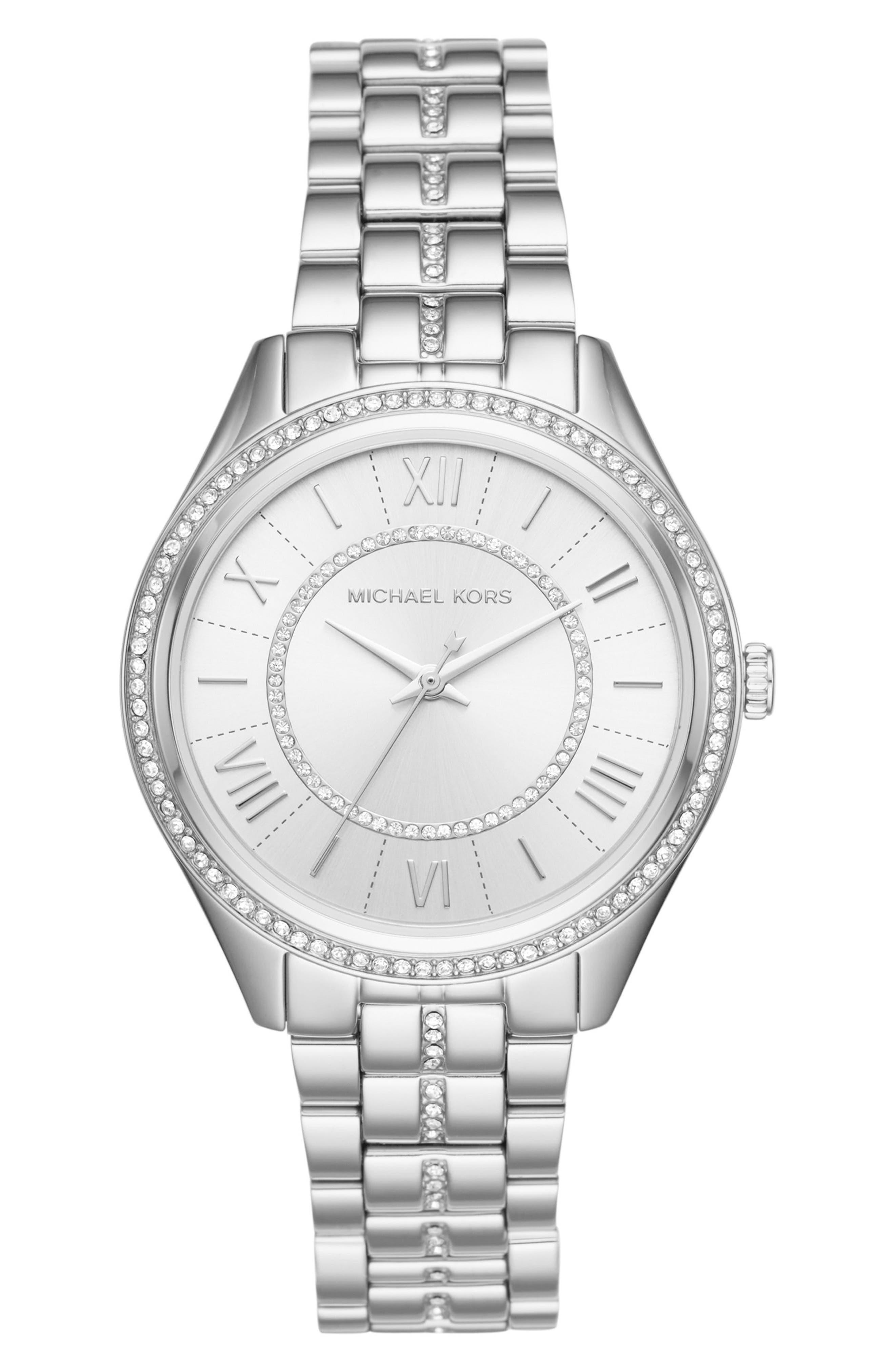 Lauryn Bracelet Watch, 38mm,                         Main,                         color, Silver