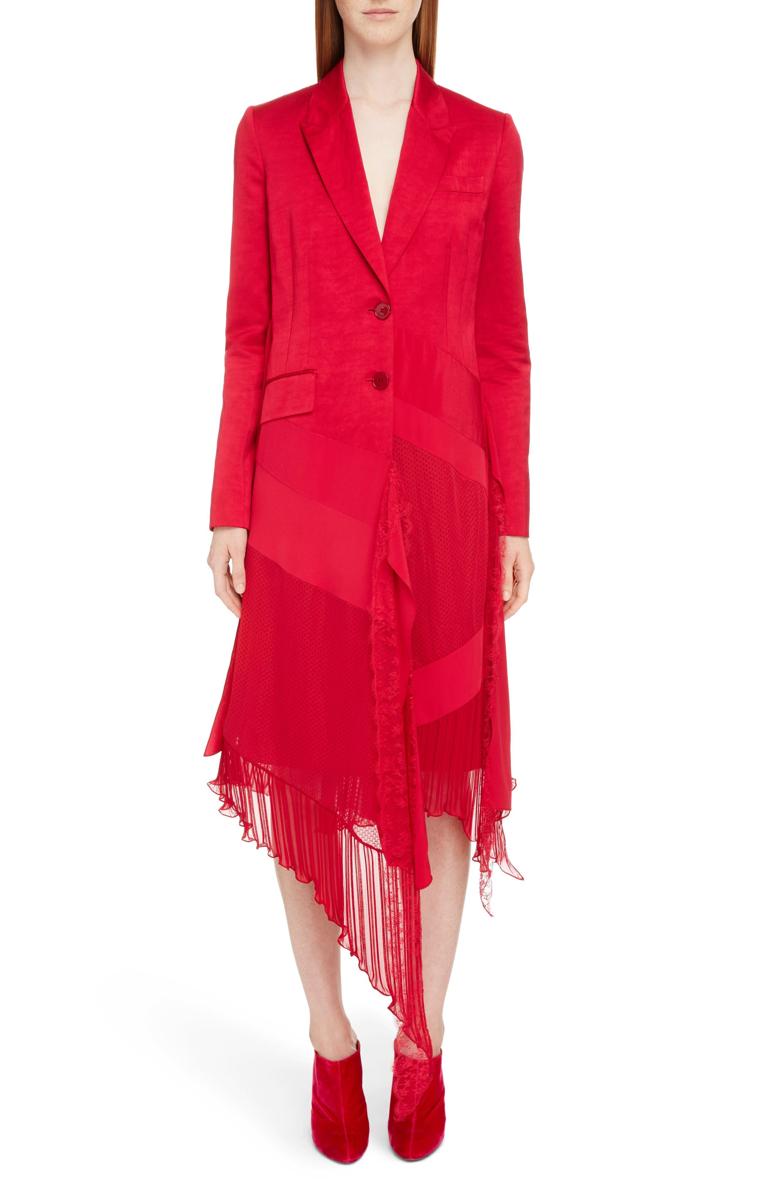 Satin Patchwork Jacket,                         Main,                         color, Fuschia