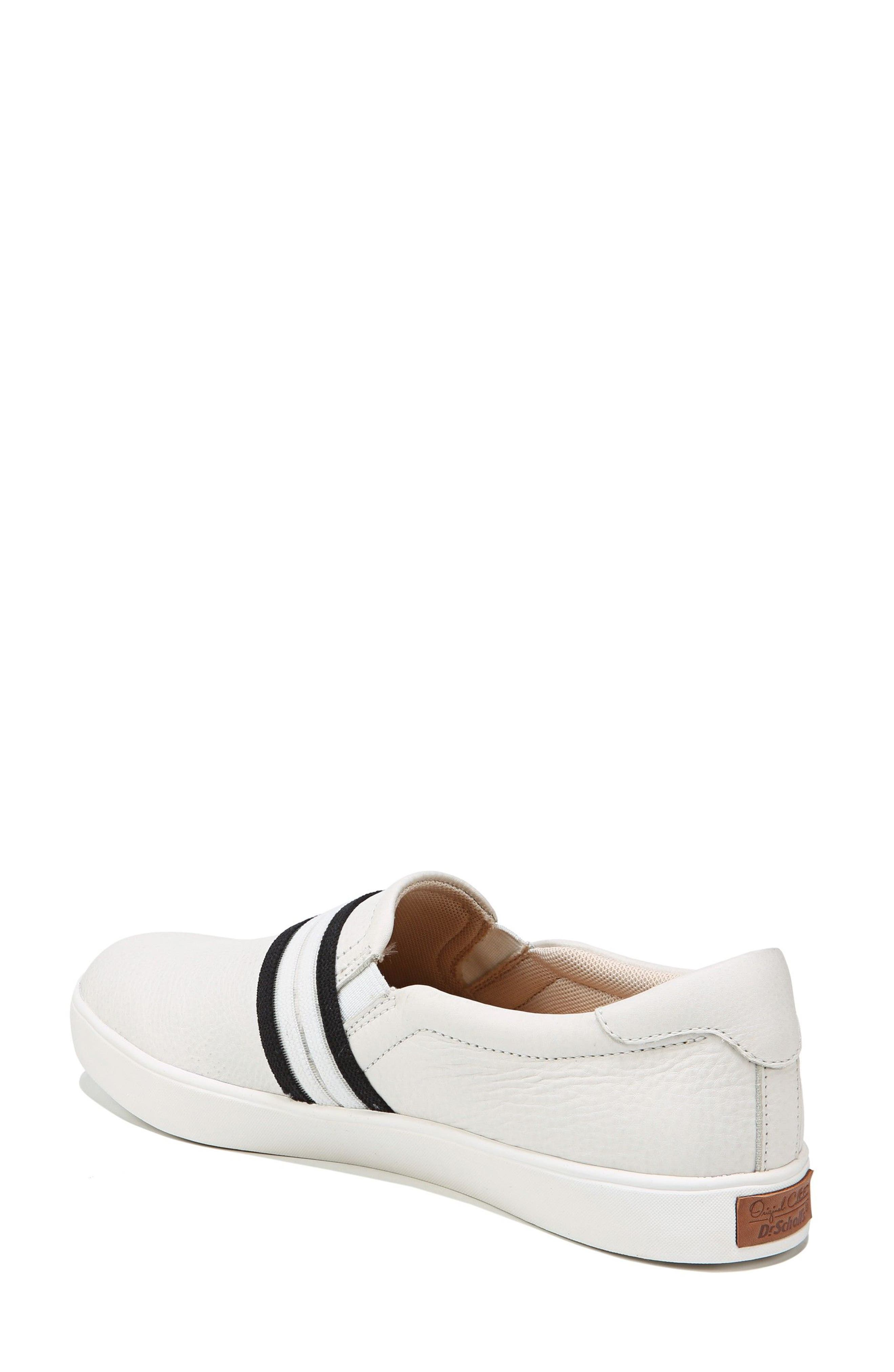 Scout Slip-On Sneaker,                             Alternate thumbnail 2, color,                             White Leather