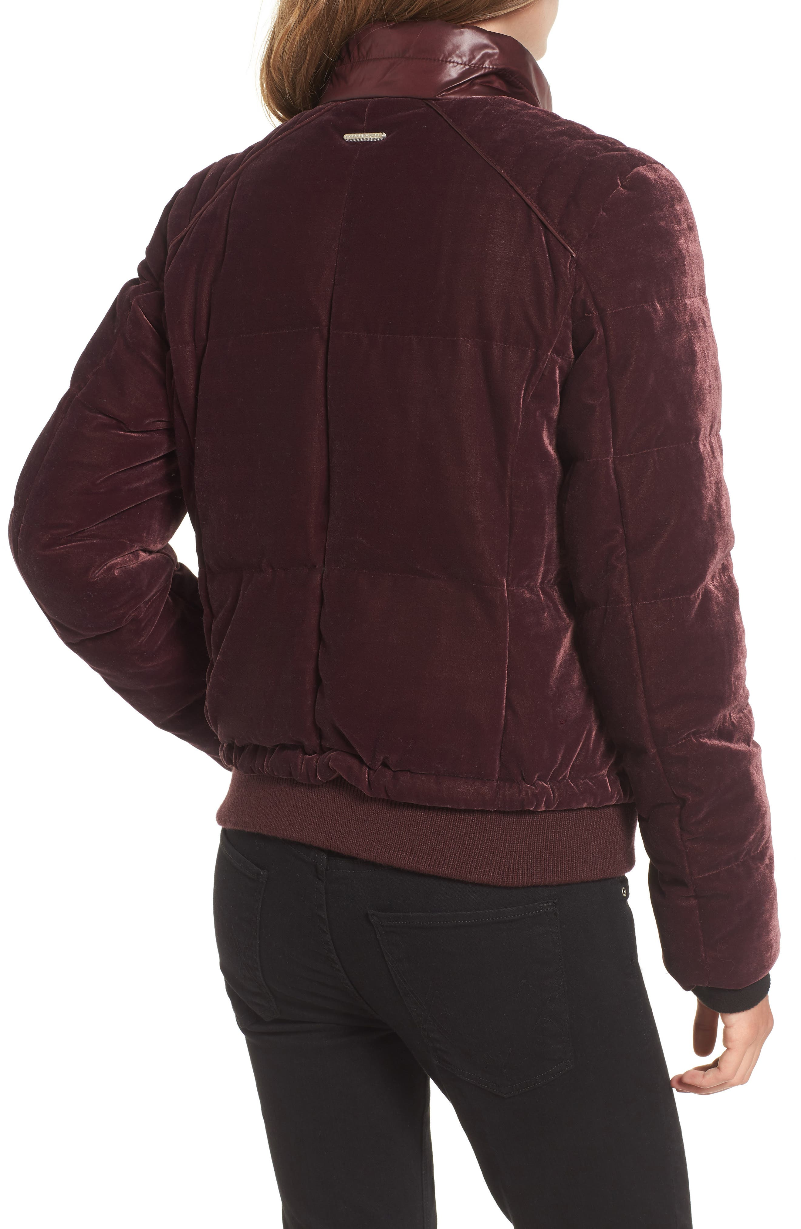 Alternate Image 2  - Andrew Marc Vita Down & Feather Fill Quilted Velvet Jacket