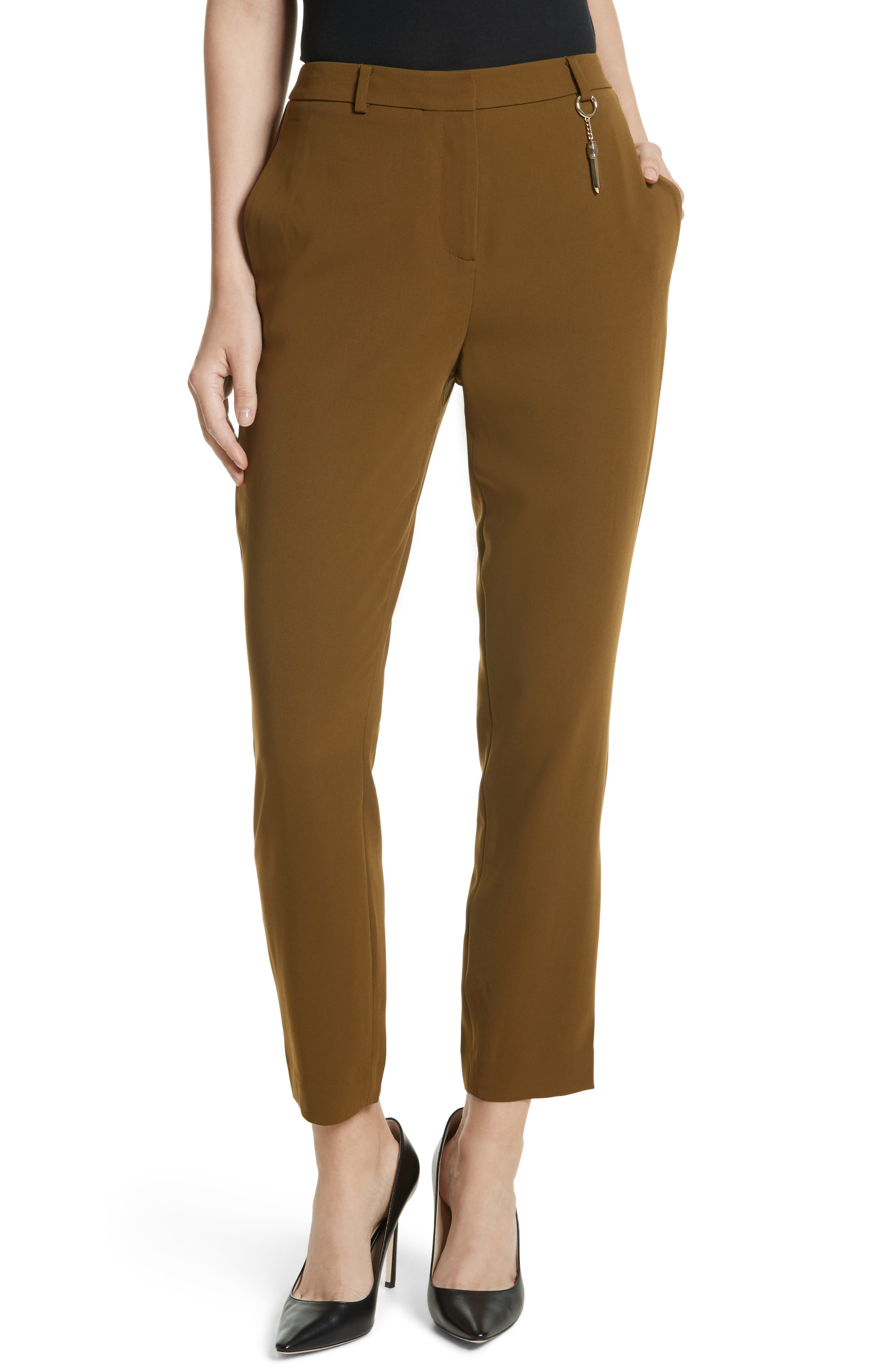 Main Image - Ted Baker London Baya Stripe Ankle Trousers