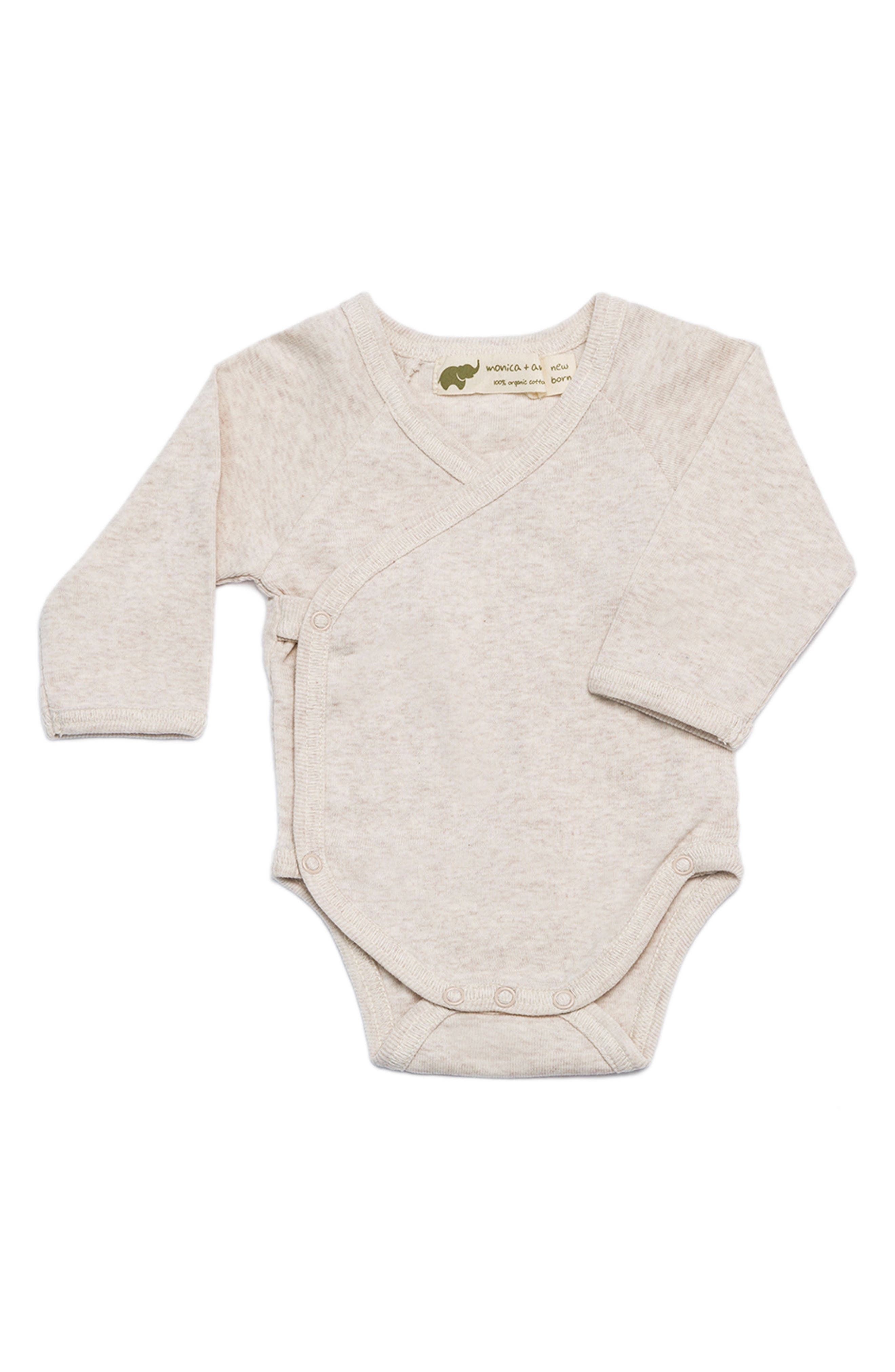 Main Image - Monica + Andy Lucky Organic Cotton Bodysuit (Baby Girls)