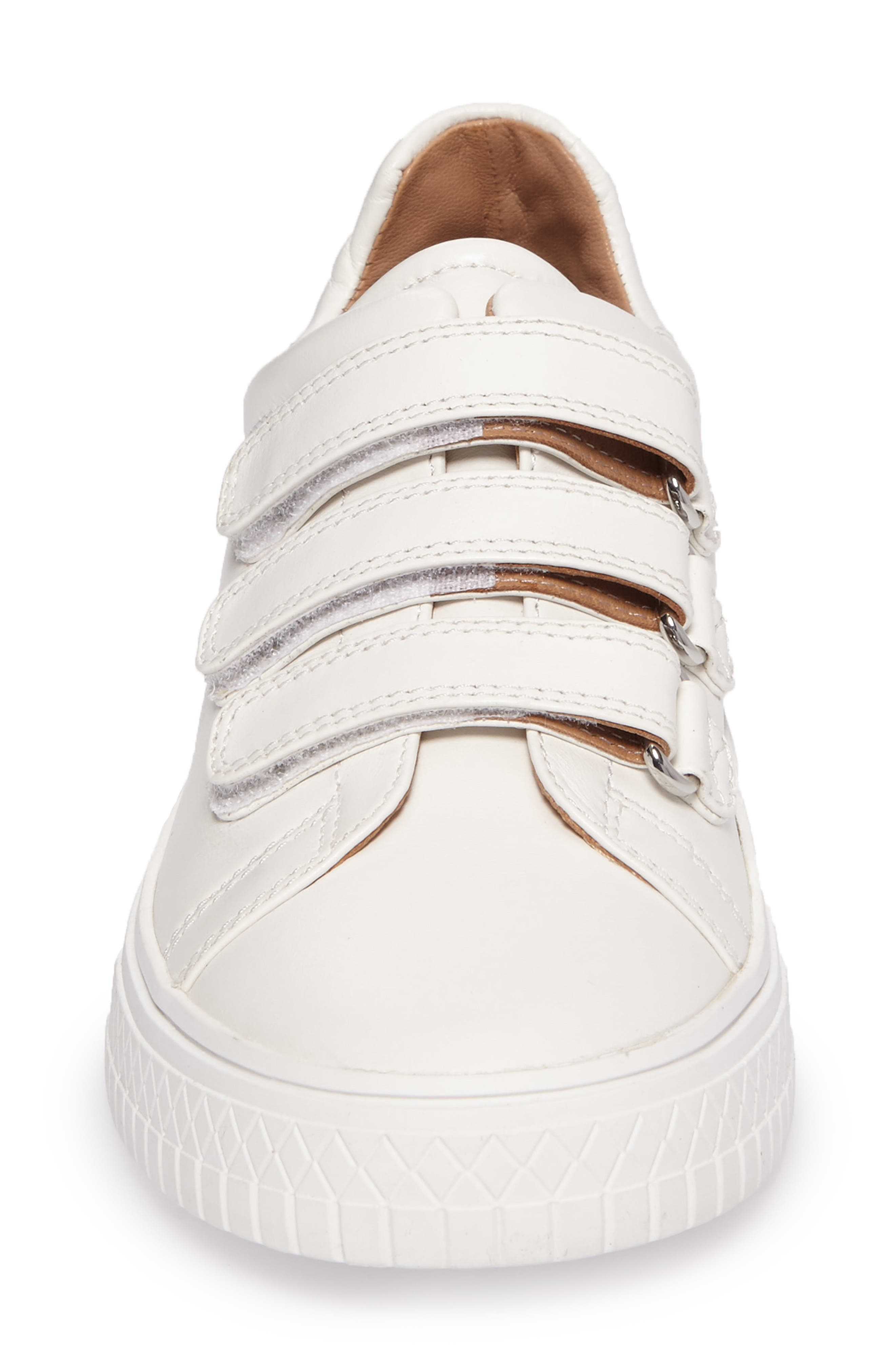 Grace Sneaker,                             Alternate thumbnail 4, color,                             White Leather