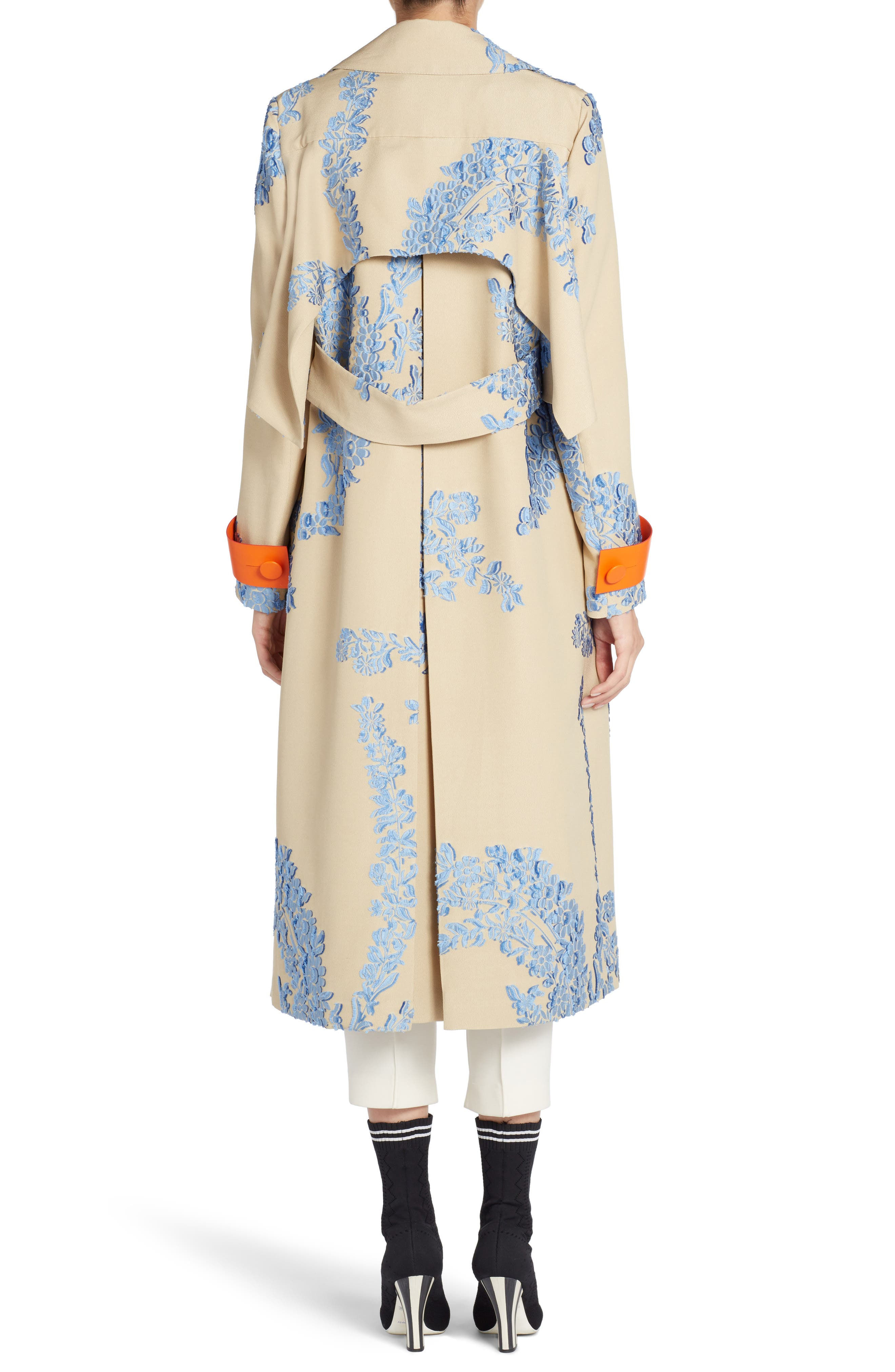 Fil Coupe Trench Coat,                             Alternate thumbnail 3, color,                             Faith Blue
