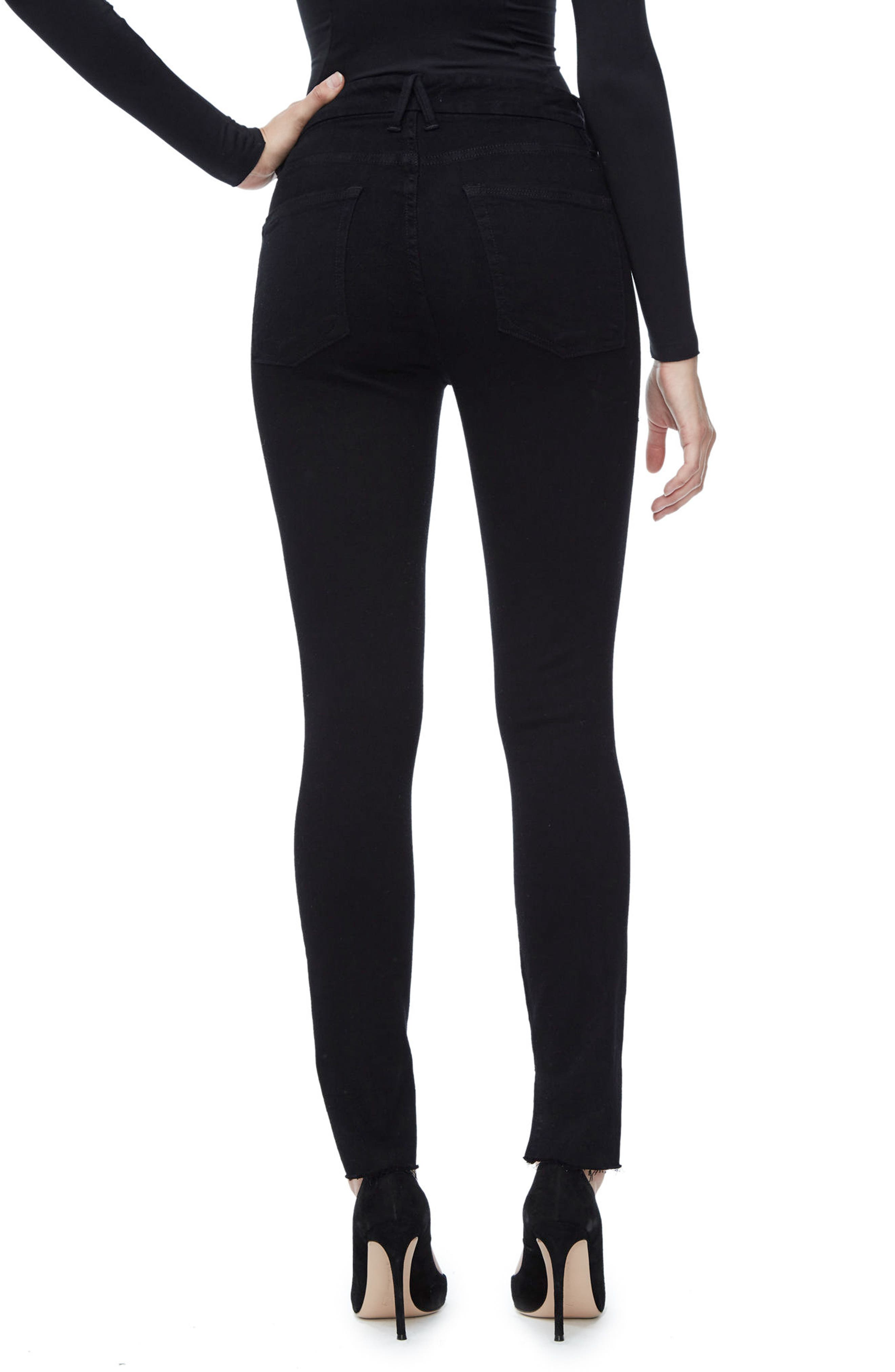 Good Legs High Waist Skinny Jeans,                             Alternate thumbnail 2, color,                             Black 001