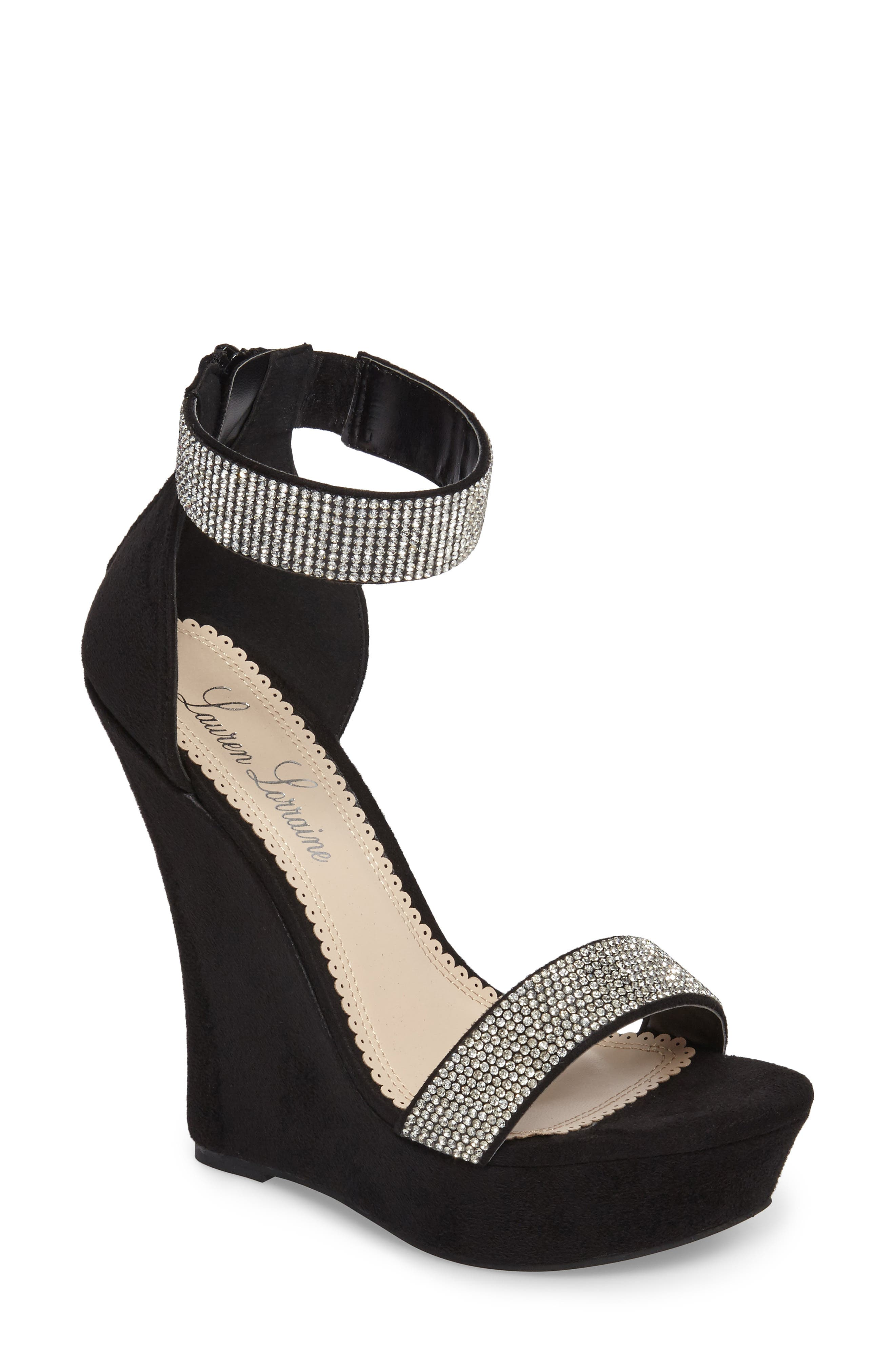 Free shipping and returns returns and on Lauren Lorraine 39Nonie39 Crystal Wedge 0fbaa1
