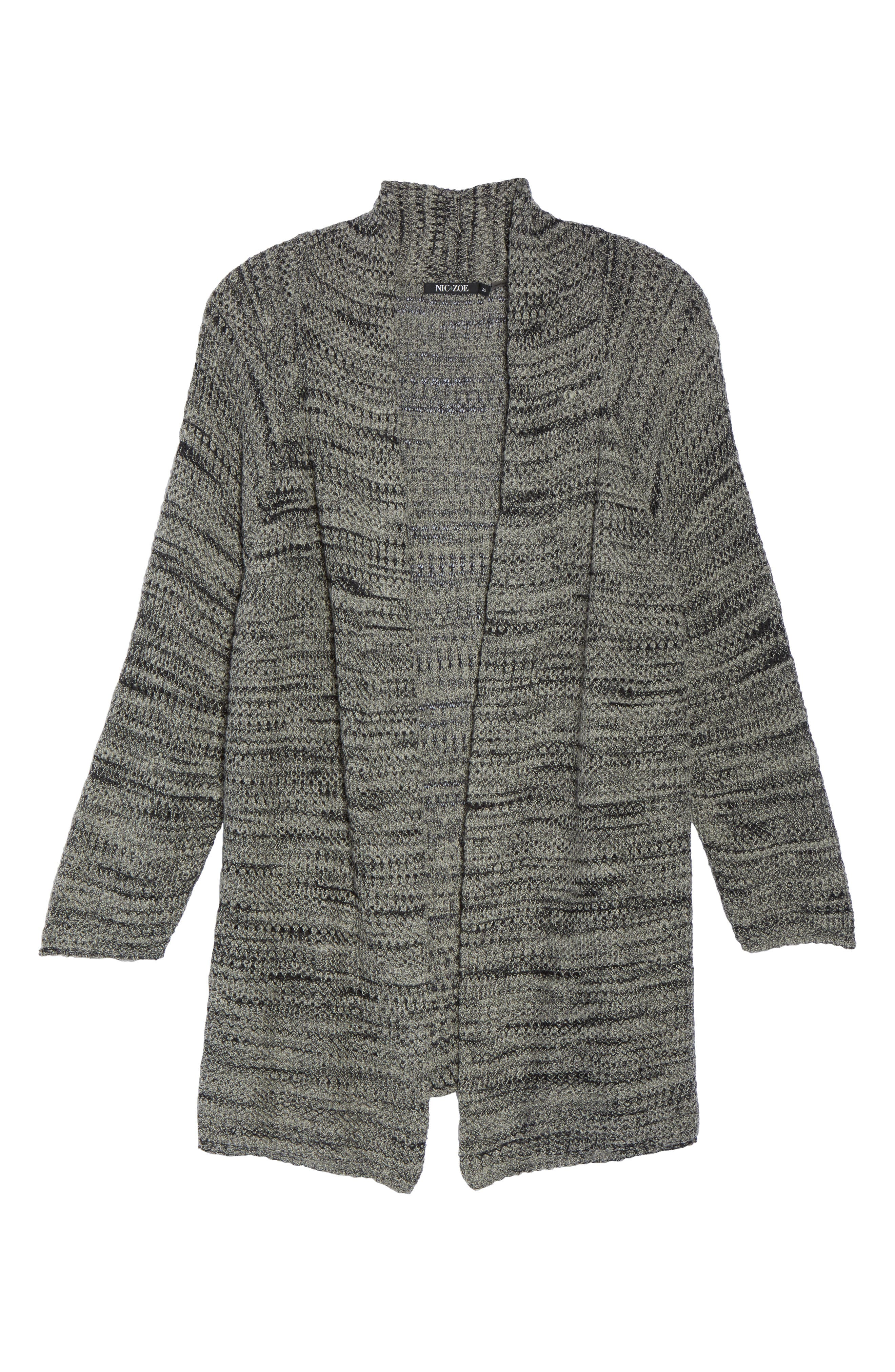 Thick & Thin Cardigan,                             Alternate thumbnail 6, color,                             Lichen